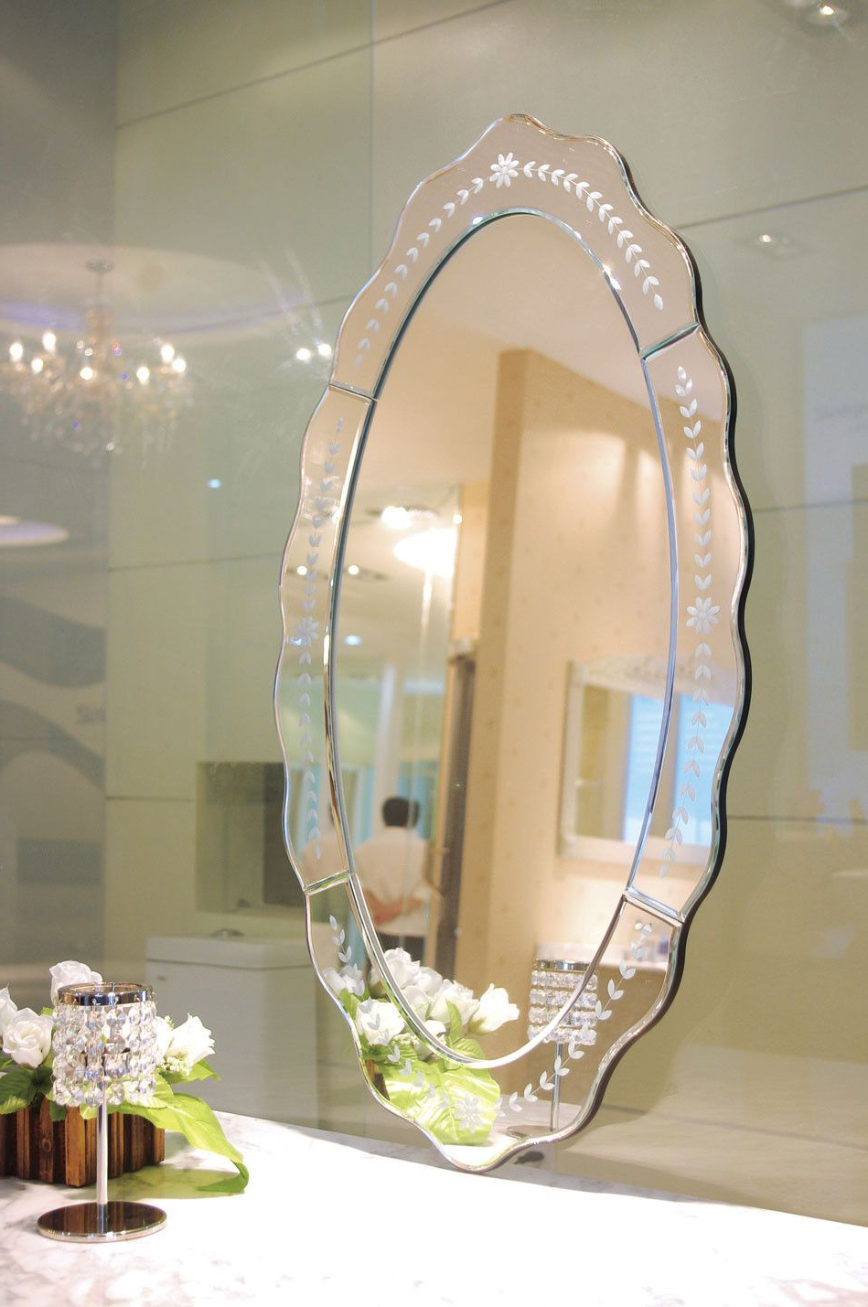 Most Recent Ablaze Celeste Decorative Oval Wall Mirror Tg – Adof (View 7 of 20)