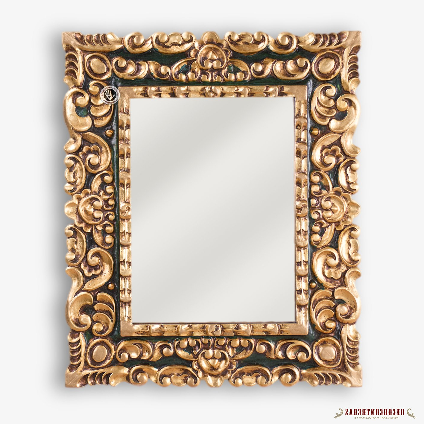 Most Recent Amazon: Rectangle Wood Framed Accent Mirror, Bathroom Decorative Throughout Rectangle Accent Mirrors (View 8 of 20)