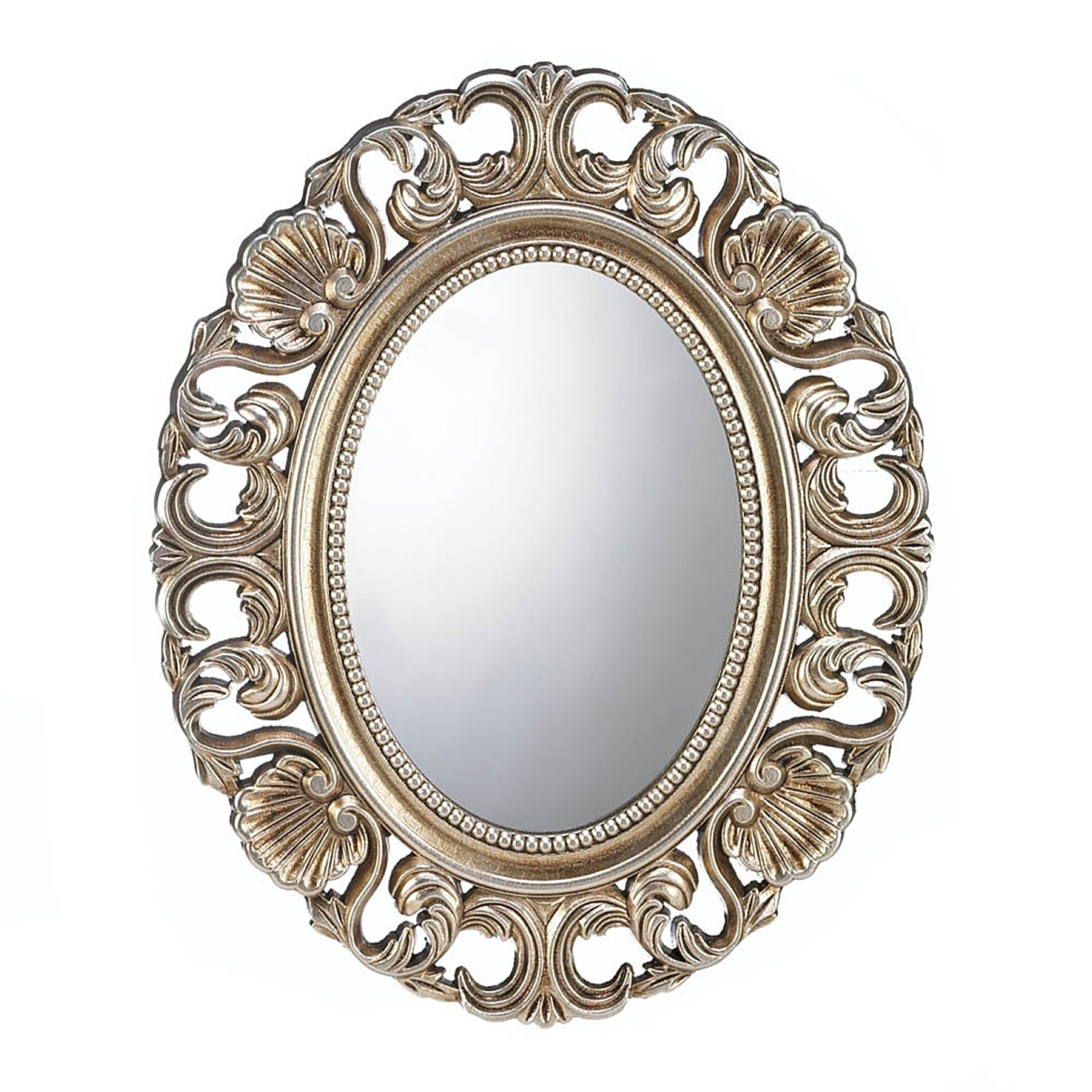 Most Recent Antique Oval Wall Mirrors With Regard To Antique Style Golden Oval Wall Mirror (View 11 of 20)