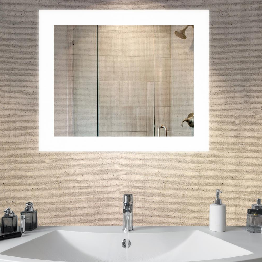 Most Recent Backlit Bathroom Wall Mirrors Pertaining To Dyconn Royal 36 In. X 30 In (View 11 of 20)