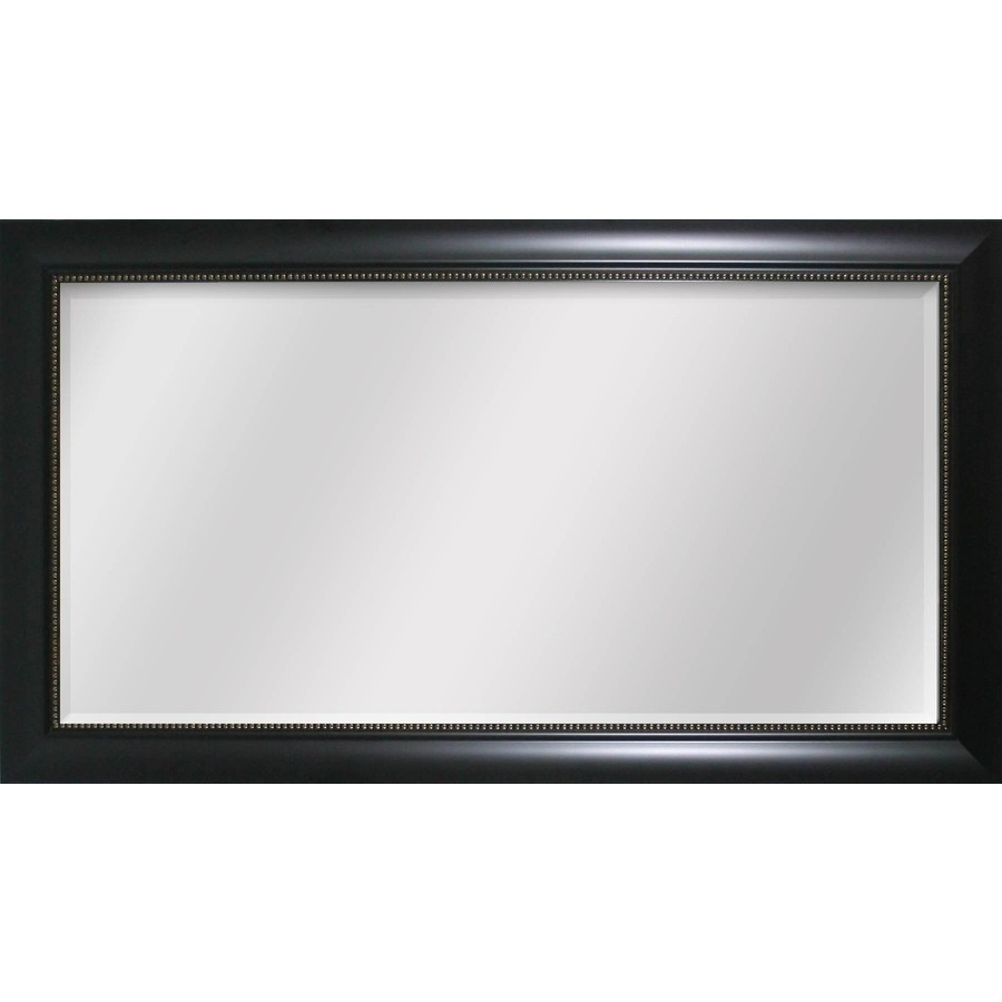 Most Recent Black Framed Wall Mirrors Intended For Style Selections 45 In X 24 In Black Beveled Rectangle Framed (View 19 of 20)
