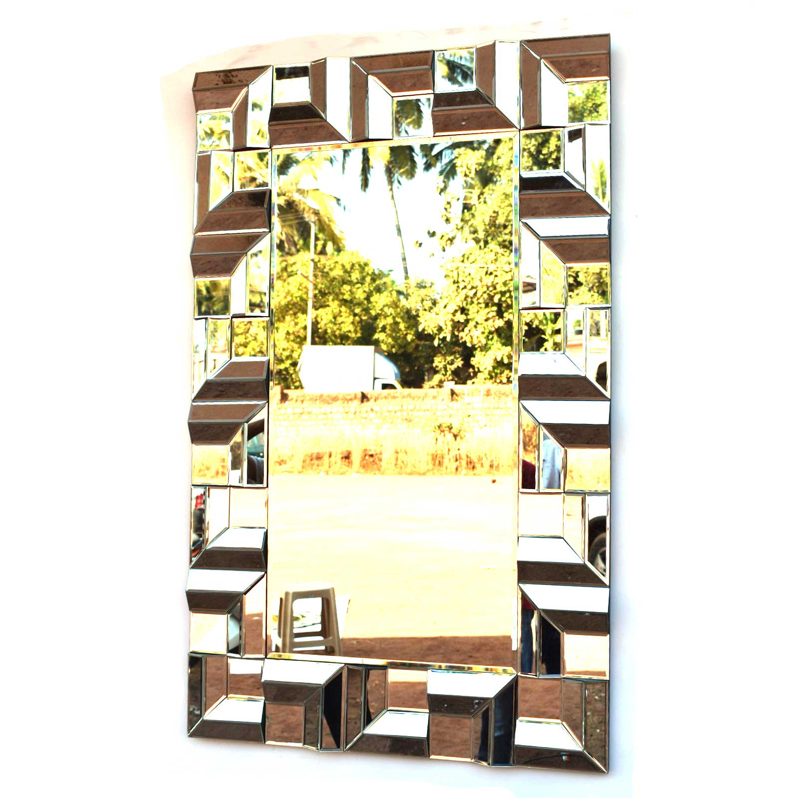 Most Recent Brizzio Ps 013 Rectangular Multi Panel Decorative Wall Mirror Pertaining To Multi Panel Wall Mirrors (View 9 of 20)