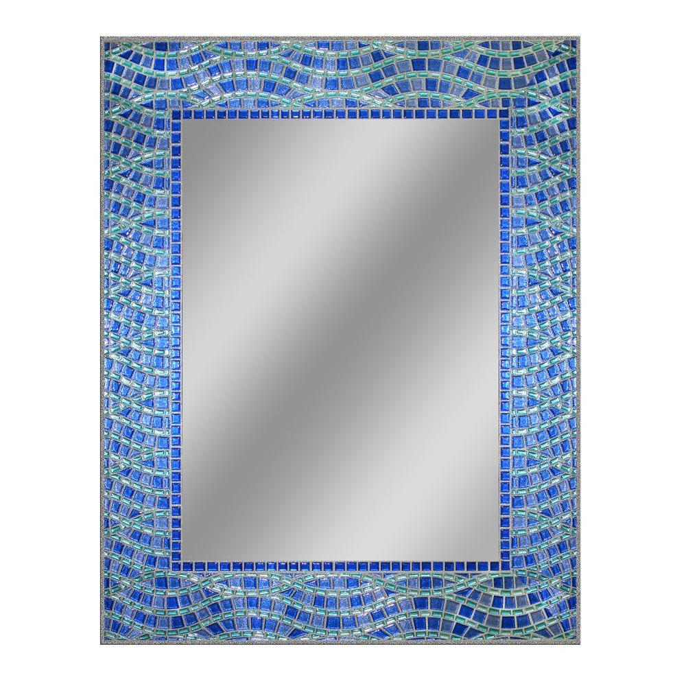 Most Recent Decorative Etched Wall Mirrors Inside Deco Mirror 24 In. X 30 In (View 11 of 20)