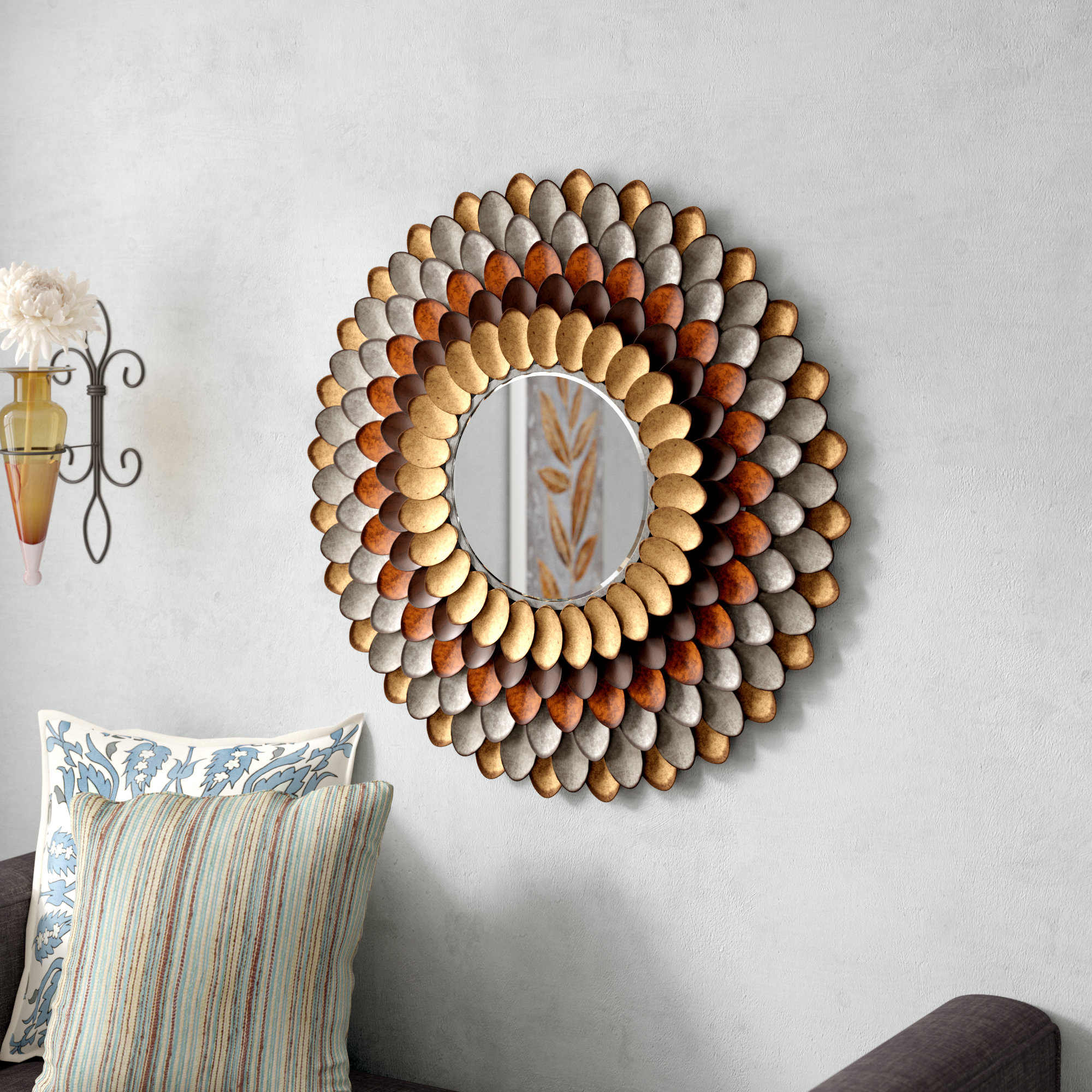 Most Recent Decorative Round Wall Mirrors Intended For Decorative Round Wall Mirror (View 6 of 20)