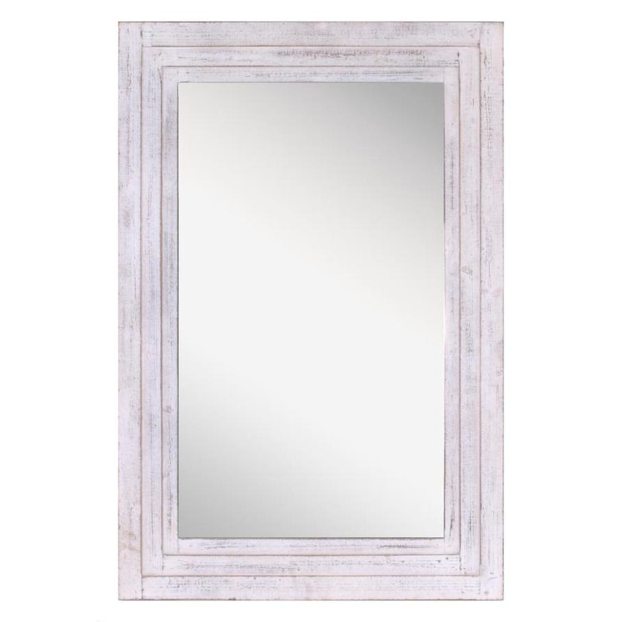 Most Recent Distressed White Wall Mirrors Pertaining To Distressed White Framed Wall Mirror At Lowes (Gallery 20 of 20)