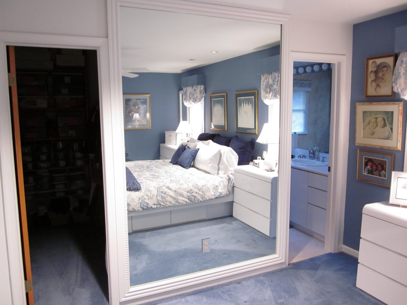 Most Recent Diy Large Wall Mirror Pertaining To Diydesign Framing A Large Mirror Framed Art Picture Frame Ideas (View 12 of 20)