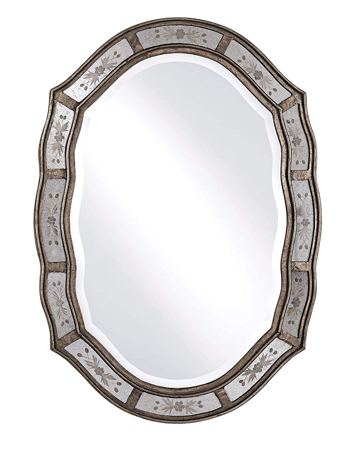 "Most Recent Fifi Contemporary Arch Wall Mirrors Inside Uttermost Fifi Etched 25"" X 35"" Wall Mirror (View 18 of 20)"