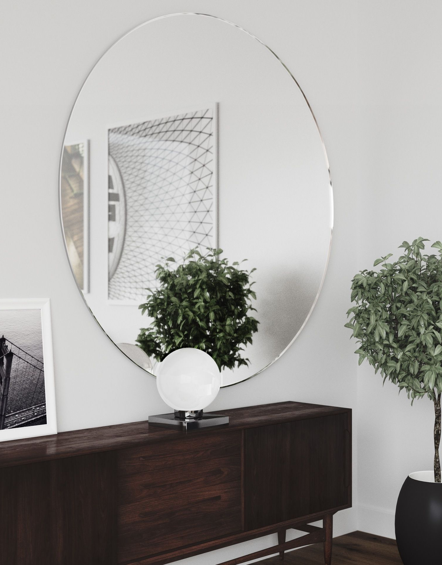 Most Recent Find Your Round Wall Mirror – 12 Editor Approved Large Round Mirrors Regarding Big Round Wall Mirrors (View 2 of 20)