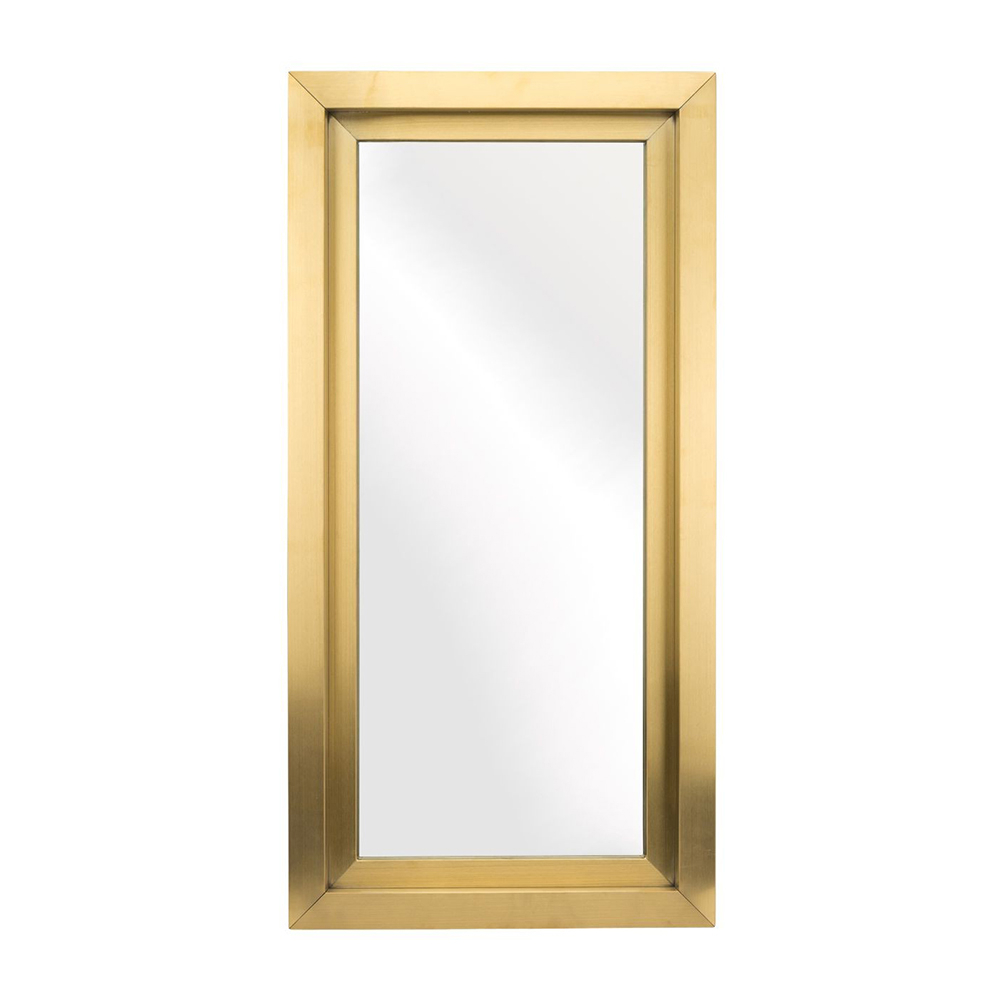 Most Recent Glam Wall Mirror – Gold Rectangular Small Pertaining To Gold Wall Mirrors (View 17 of 20)