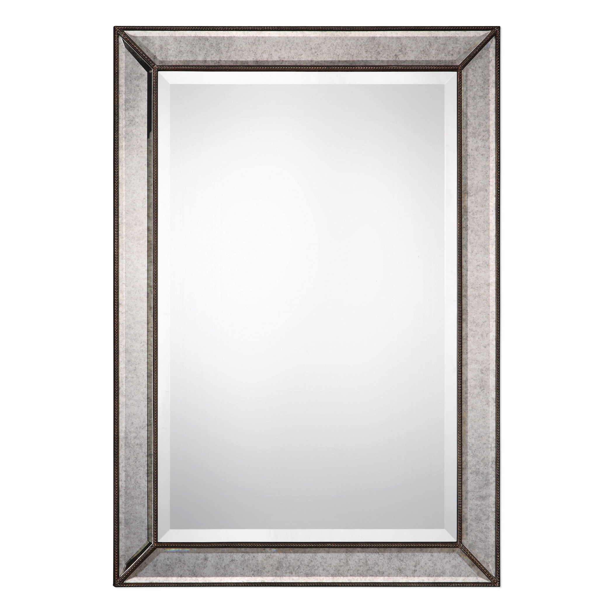 Most Recent Hilde Traditional Beveled Bathroom Mirrors Regarding Marsha Traditional Rectangle Mdf/mirror Framed Accent Mirror (View 9 of 20)