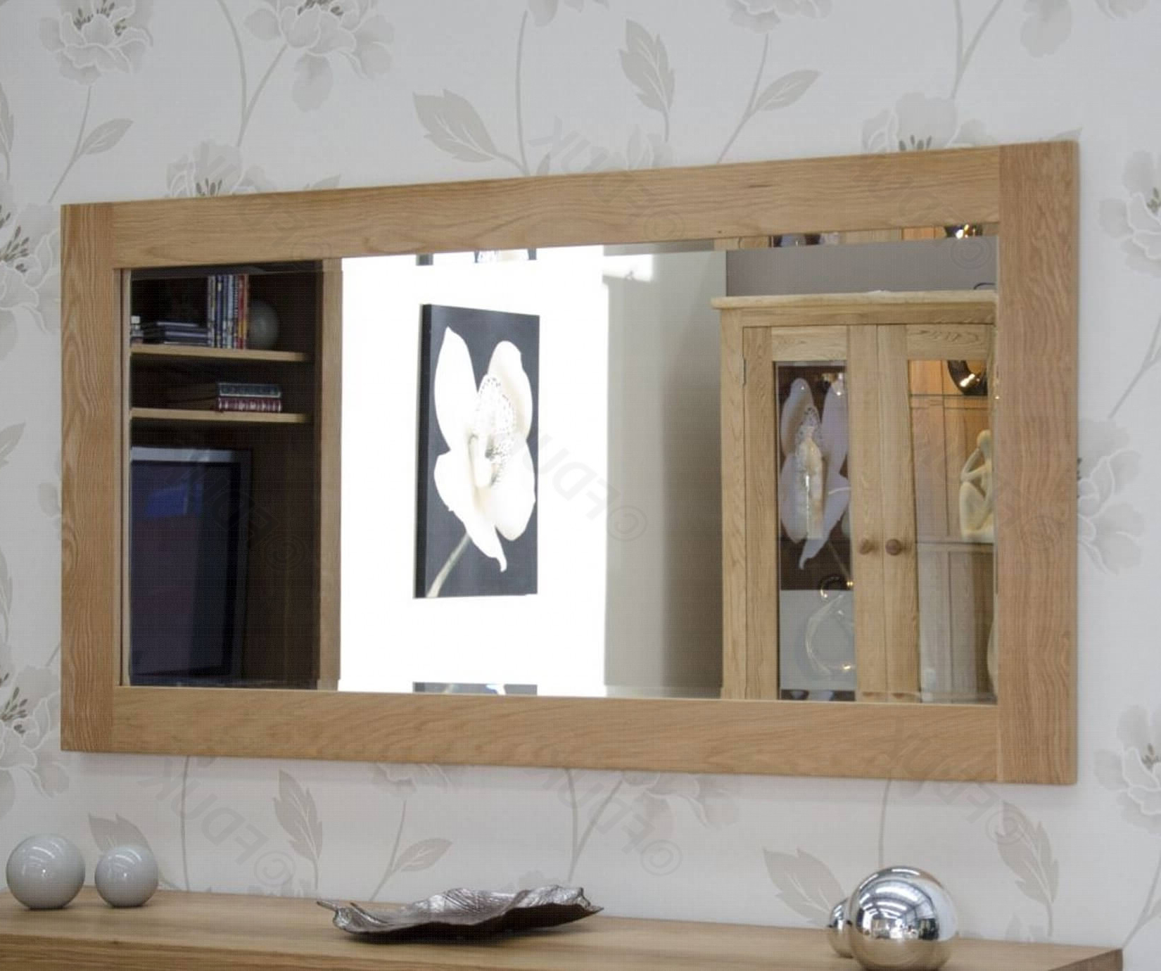 Most Recent Homestyle Gb Oak Rectangular Large Wall Mirror Fduk Best Price Guarantee We  Will Beat Our Competitors Price! Give Our Sales Team A Call On 0116 235 77 Within X Large Wall Mirrors (View 10 of 20)
