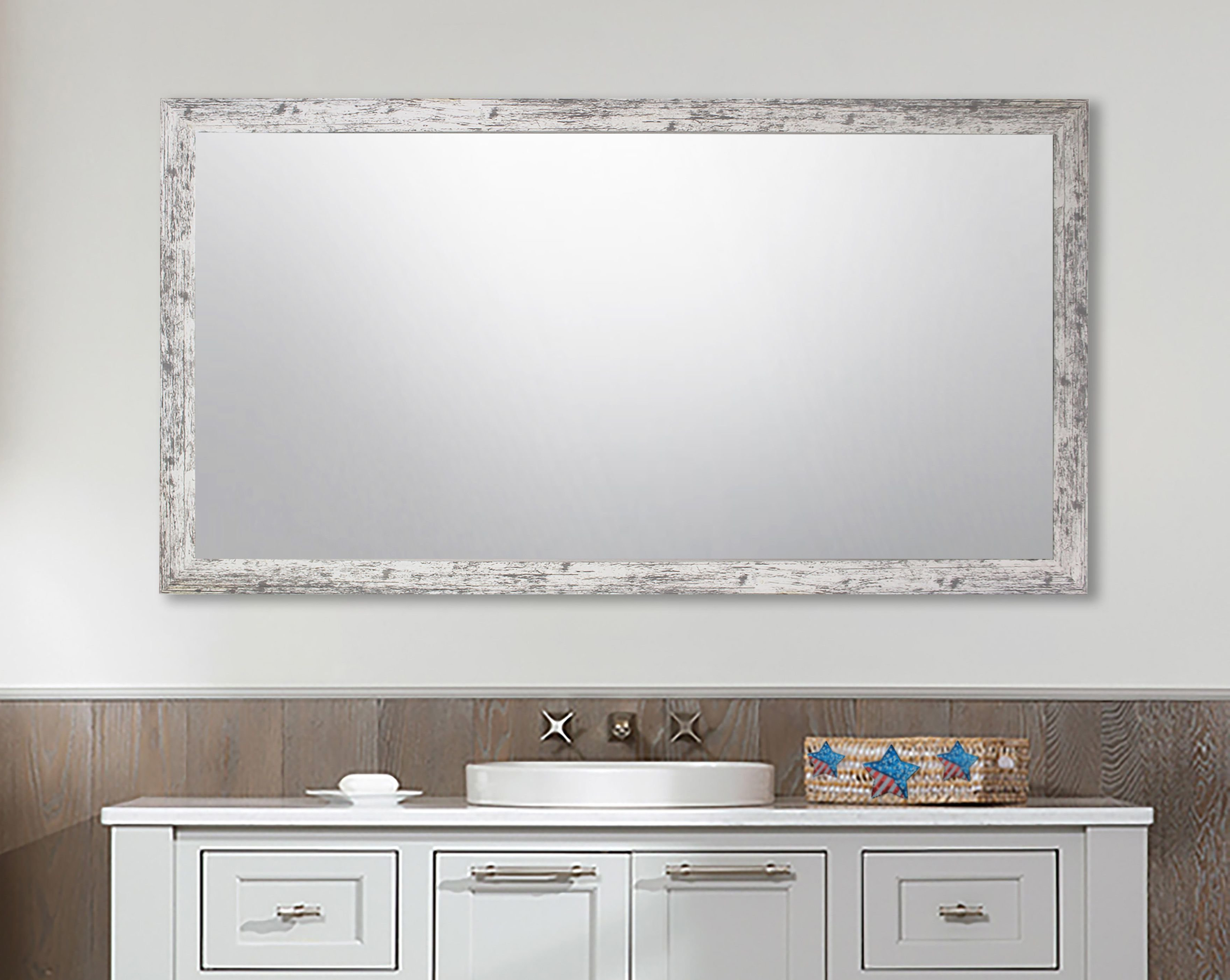 Most Recent Landover Rustic Distressed Bathroom/vanity Mirrors Inside Distressed Bathroom Vanity Mirror – Home Decor Photos Gallery (View 3 of 20)