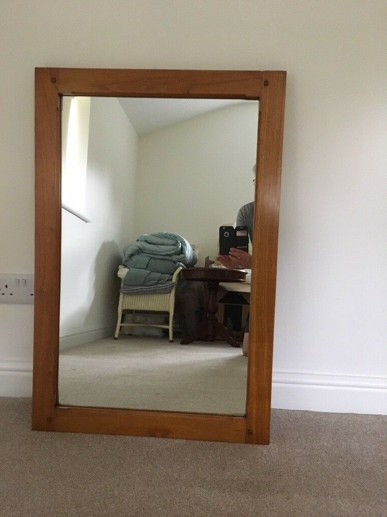 Most Recent Large Wall Mirrors With Wood Frame Regarding Wall Mirror In Wood Frame, Golden Oak Colour, For Sale (View 8 of 20)