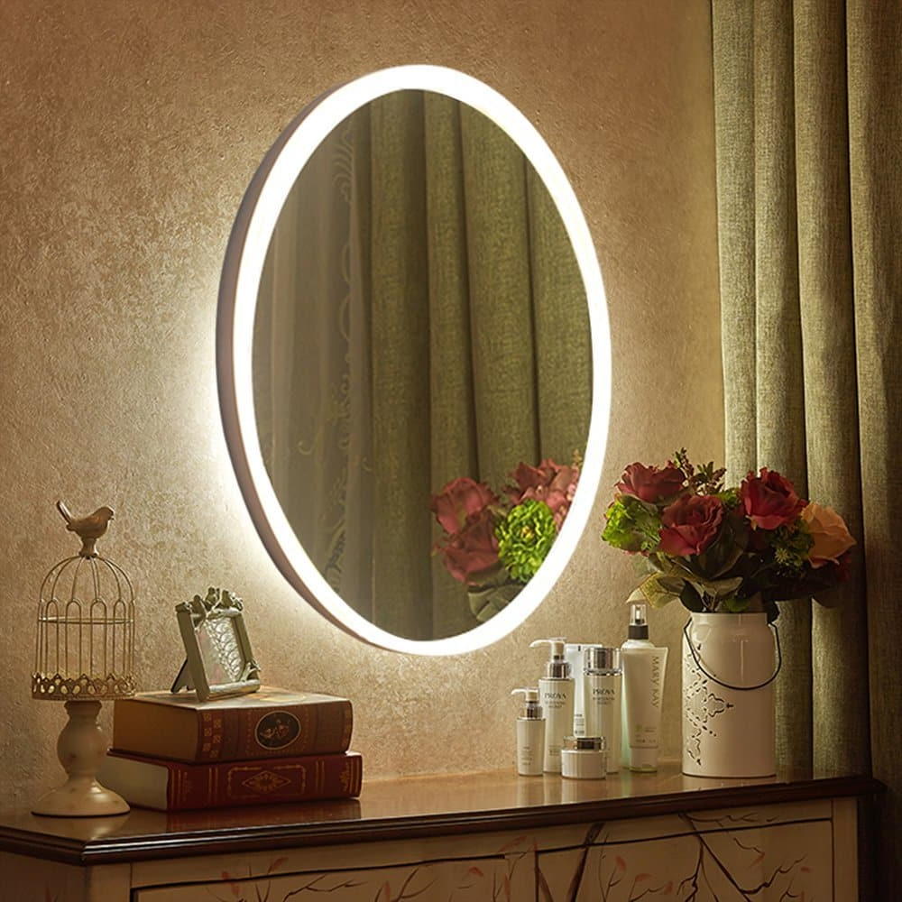 Most Recent Lighted Vanity Wall Mirrors With Regard To Top 10 Best Led Lighted Vanity Mirrors In 2019 – Topreviewproducts (View 17 of 20)
