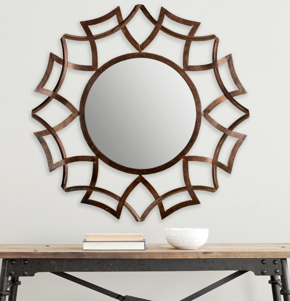 Most Recent Liliana Gold Iron Glass Mirror – Artofit With Brylee Traditional Sunburst Mirrors (View 14 of 20)