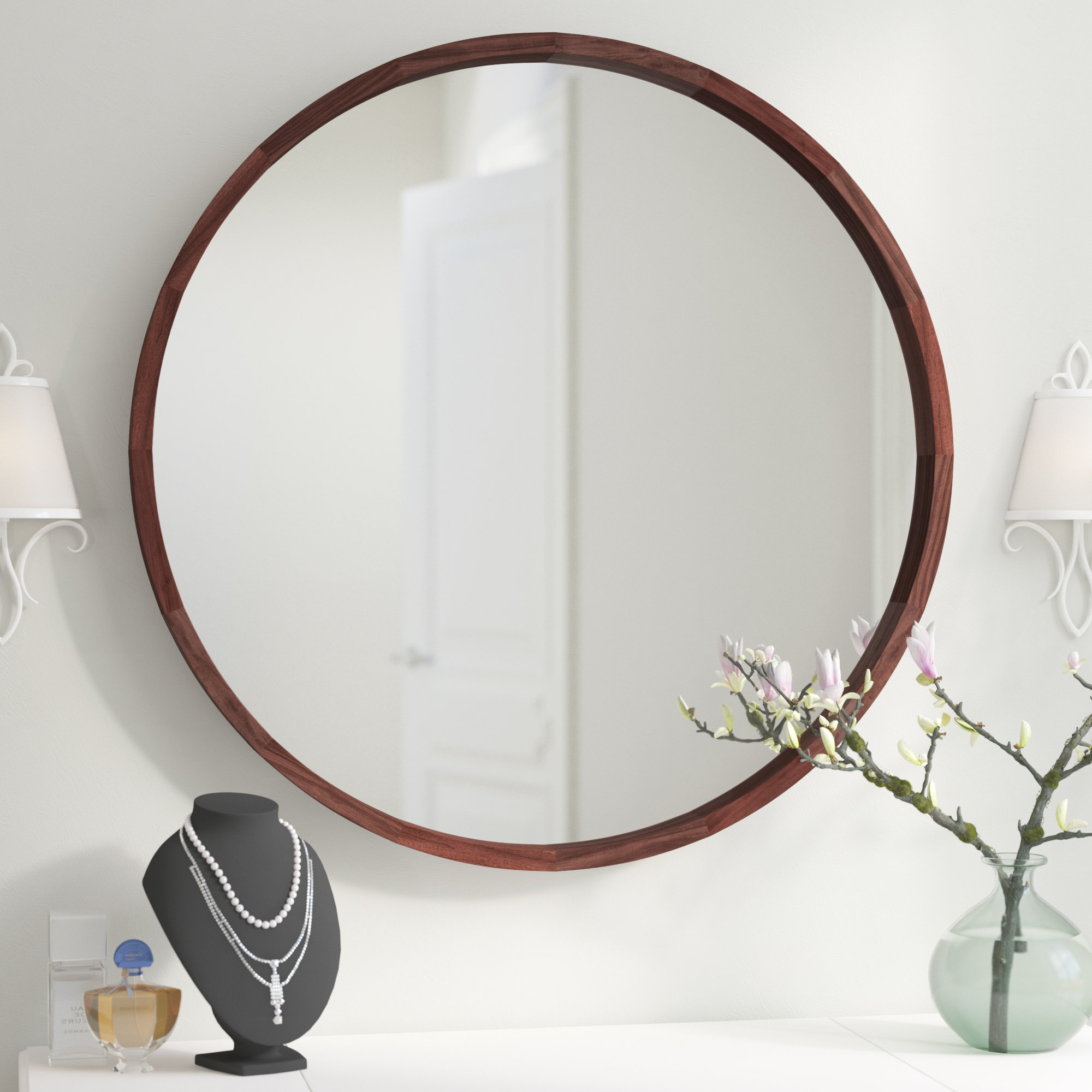 Most Recent Loftis Modern & Contemporary Accent Wall Mirror Pertaining To Vertical Round Wall Mirrors (View 16 of 20)
