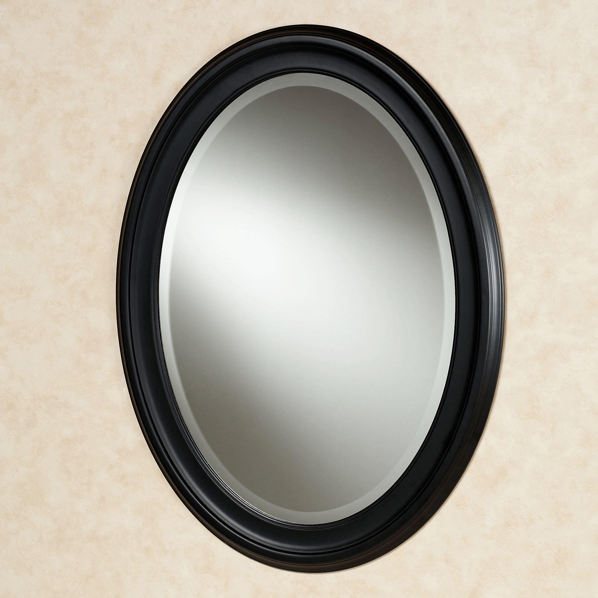 Most Recent Loree Black Oval Wall Mirror Inside Black Oval Wall Mirrors (View 2 of 20)