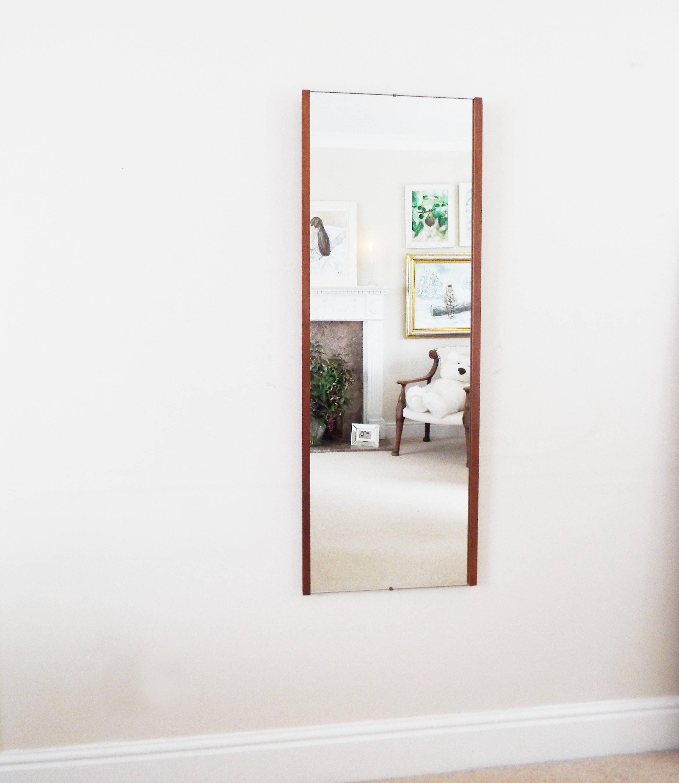 Most Recent Mid Century Wall Mirrors Regarding Extra Large Danish Teak Mirror Mid Century Modernist Wall Mirror Retro  Mirror Vintage (Gallery 20 of 20)