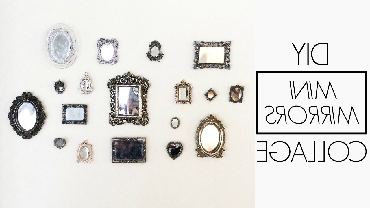Most Recent Mini Wall Mirrors Inside Diy Mini Mirrors Gallery Wall (View 2 of 20)
