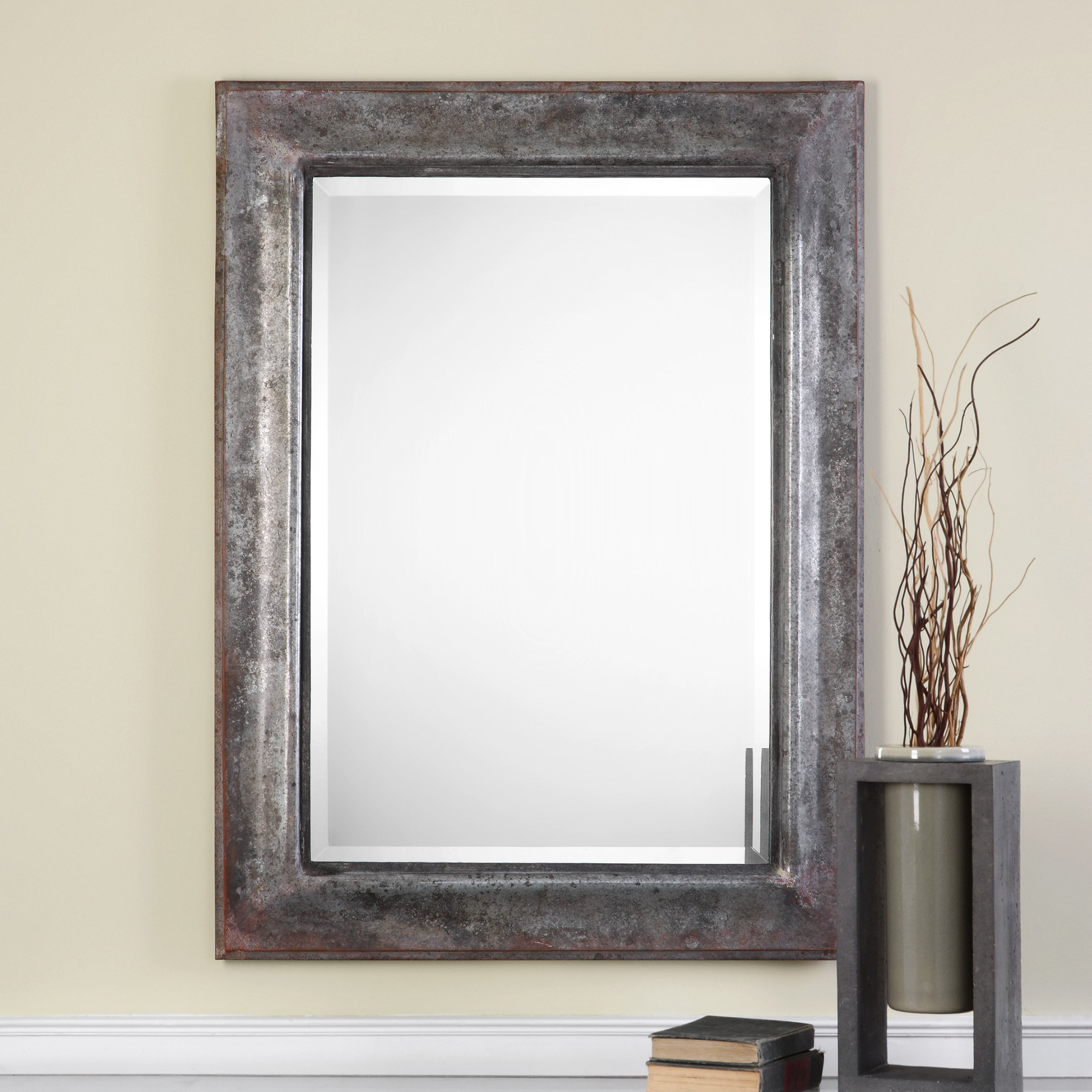 Most Recent Modern & Contemporary Beveled Wall Mirror Pertaining To Dedrick Decorative Framed Modern And Contemporary Wall Mirrors (View 14 of 20)