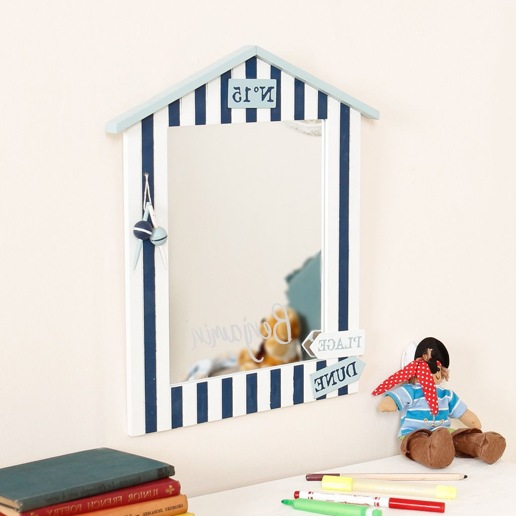 Most Recent Nautical Wall Mirrors Pertaining To Nautical Beach Hut Mirror (View 10 of 20)