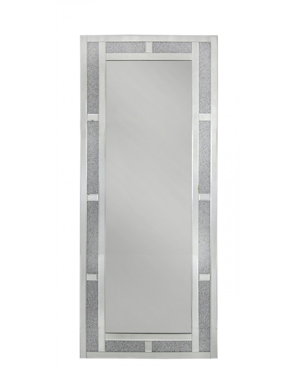 Most Recent Oblong Wall Mirrors Within Large Italian Collection Crystal Brick Effect Oblong Wall Mirror (View 7 of 20)