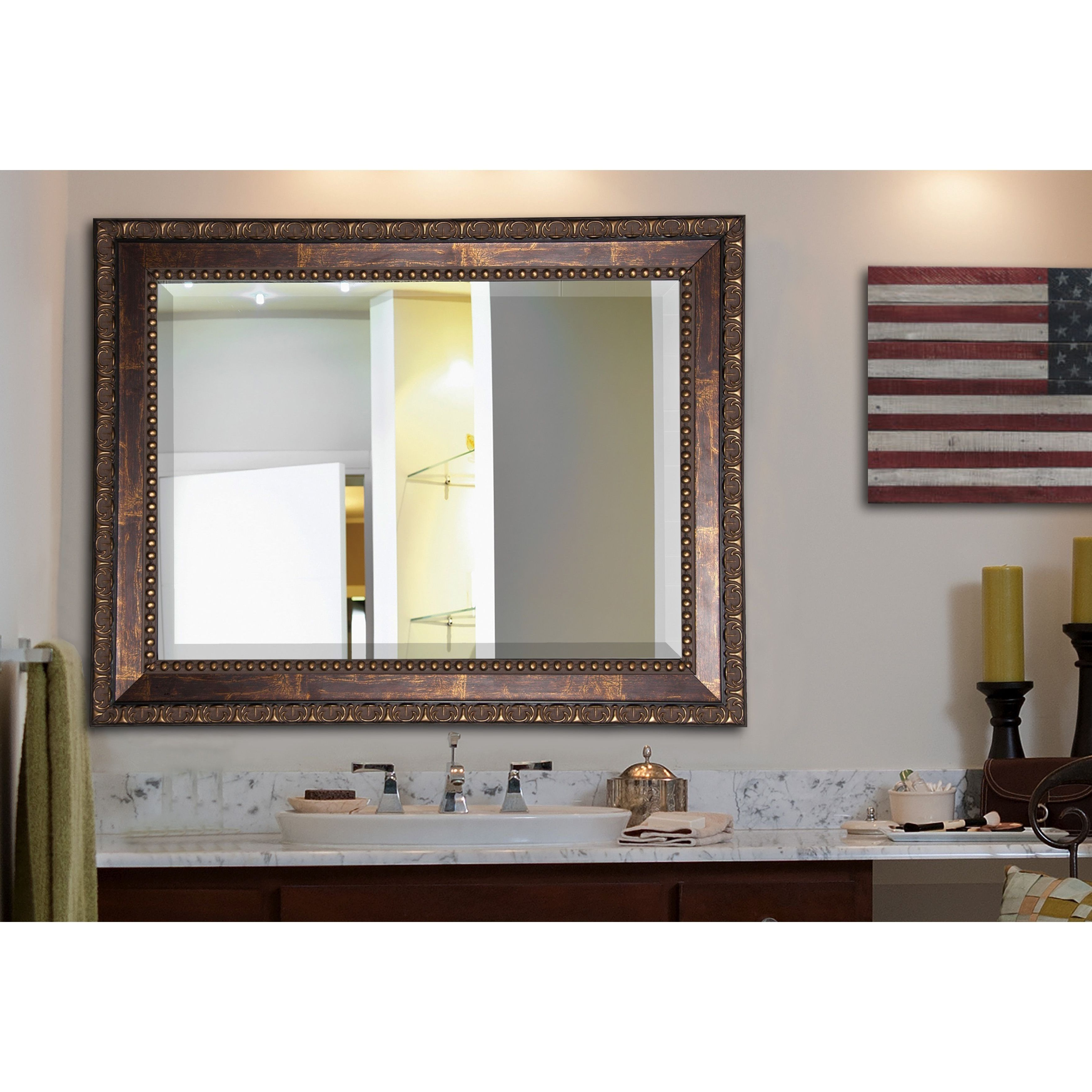 Most Recent Pine Canopy American Made Rayne Roman Bronze Wall/ Vanity Mirror For American Made Accent Wall Mirrors (View 15 of 20)