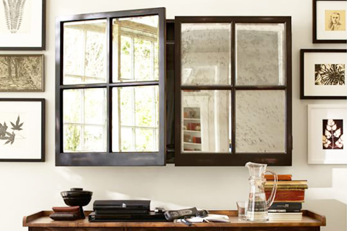 Most Recent Pottery Barn Wall Mirrors Within 15 Best Industrial Mirrors For Your Loft Apartment (View 18 of 20)