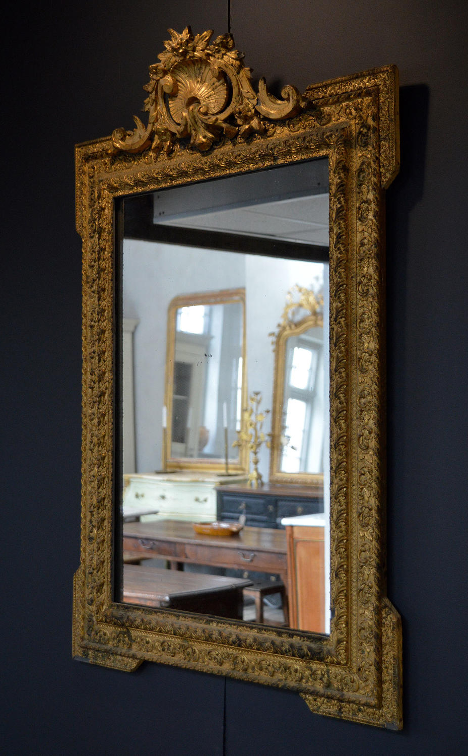 Most Recent Pretty Wall Mirrors For Late 19Th Century Gilt Frame Louis Xvi Style Wall Mirror In Mirrors (View 19 of 20)