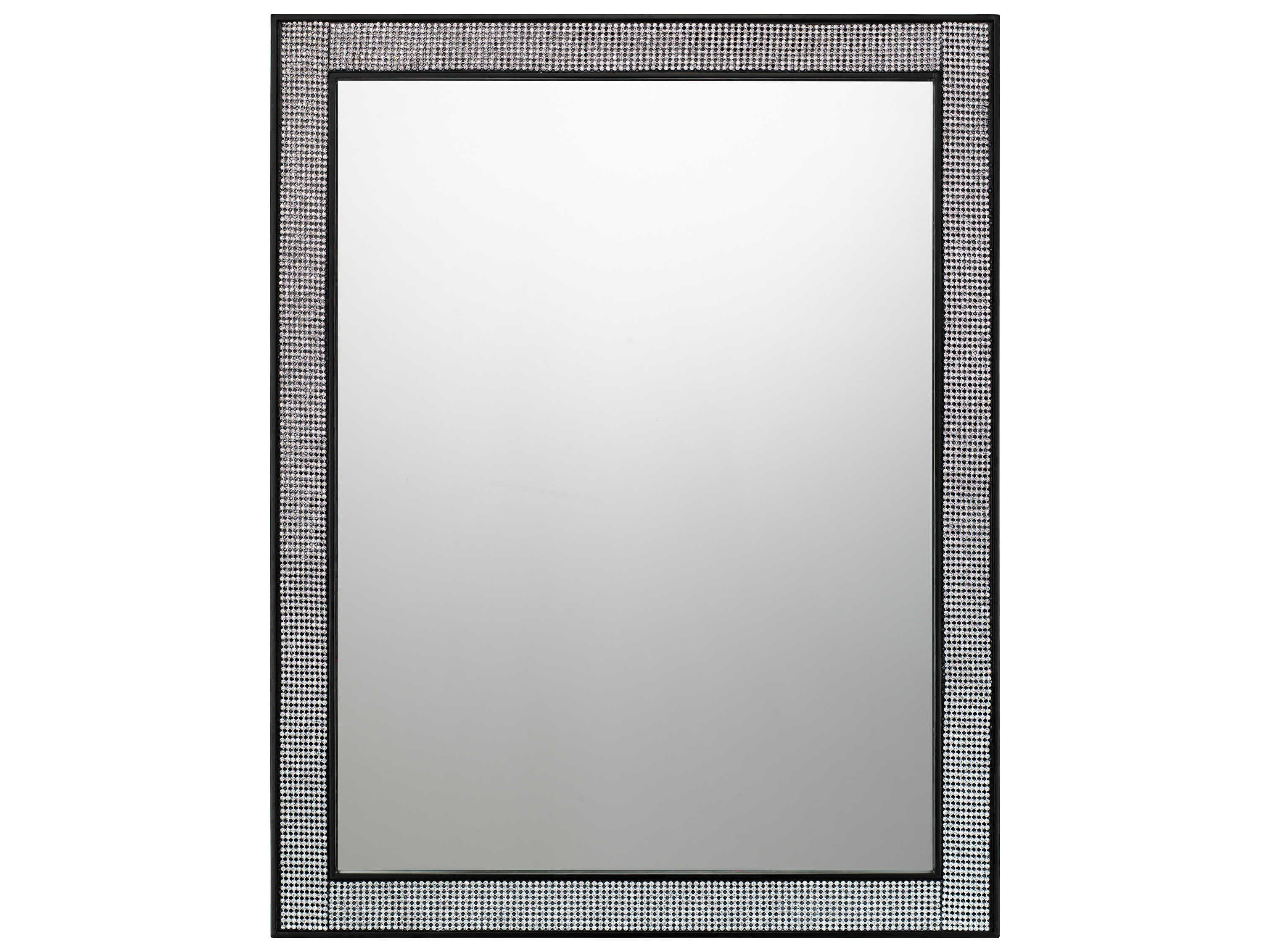 Most Recent Quiozel Evoke Mystic Black 22''w X 28''h Rectangular Wall Mirror Pertaining To Oblong Wall Mirrors (View 16 of 20)