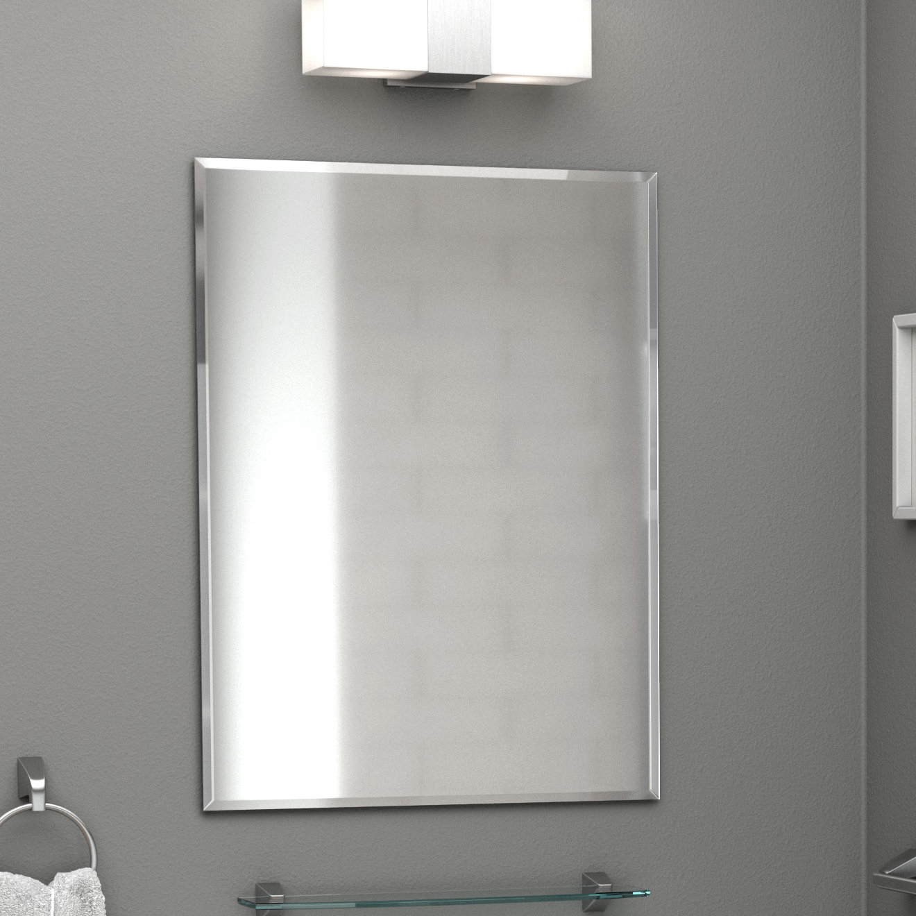 Most Recent Rectangle Flush Accent Wall Mirror Pertaining To Rectangle Accent Wall Mirrors (View 10 of 20)