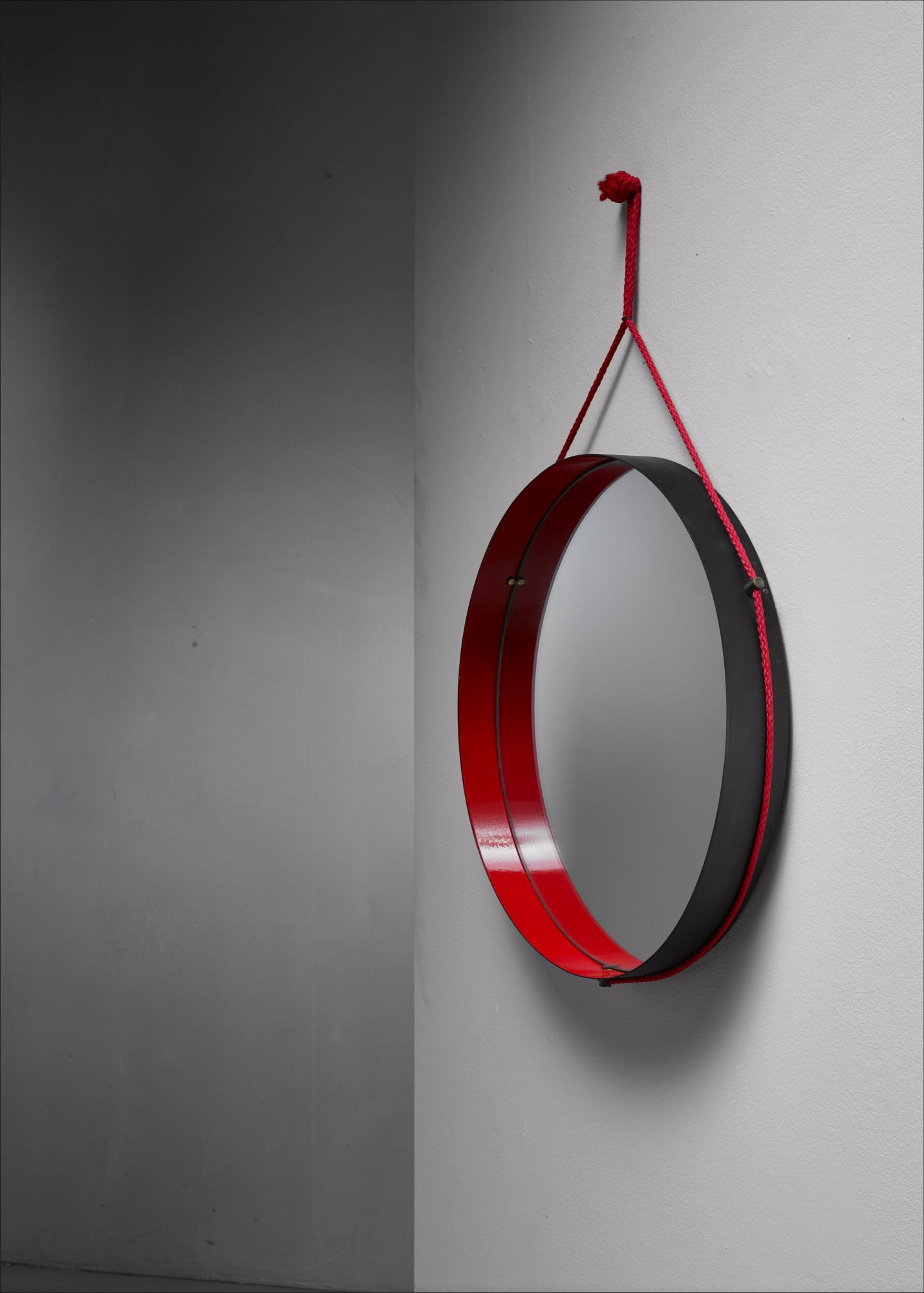 Most Recent Red Wall Mirrors Pertaining To Black And Red Enamel Metal Wall Mirror Italy Intended For (View 6 of 20)