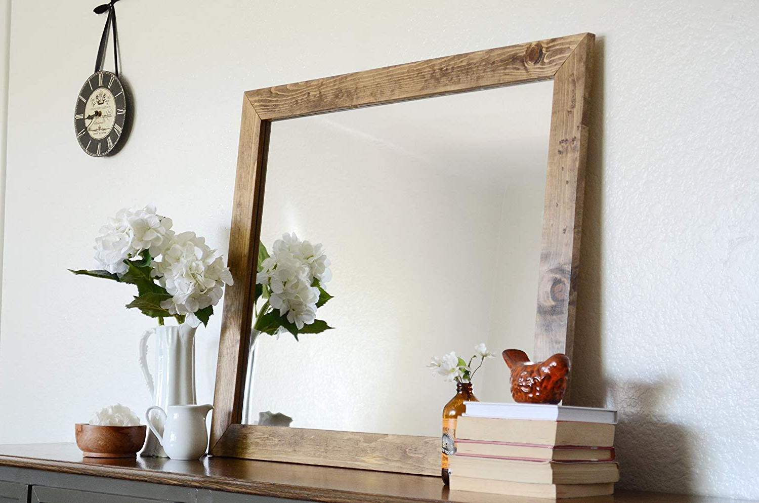 Most Recent Rustic Wooden Wall Mirror Throughout Rustic Wood Wall Mirrors (View 4 of 20)