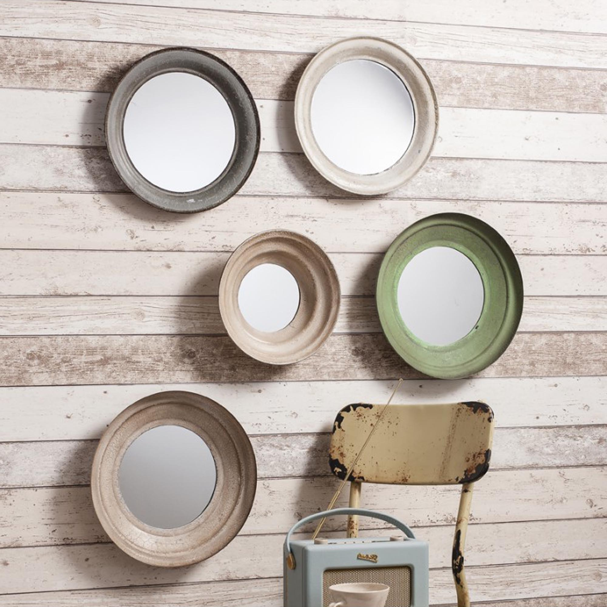 Most Recent Set Of Wall Mirrors Throughout Set Of 5 Crosby Wall Mirrors (View 5 of 20)