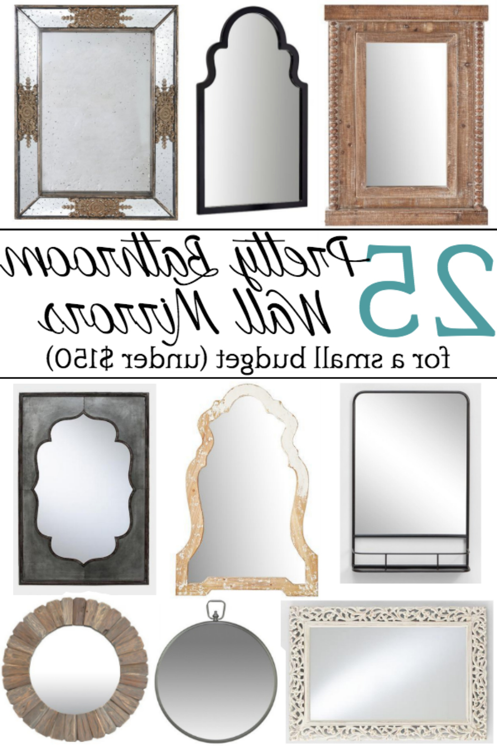 Most Recent Small Bathroom Wall Mirrors Within Unique Bathroom Mirrors For A Small Budget – Bless'er House (View 8 of 20)