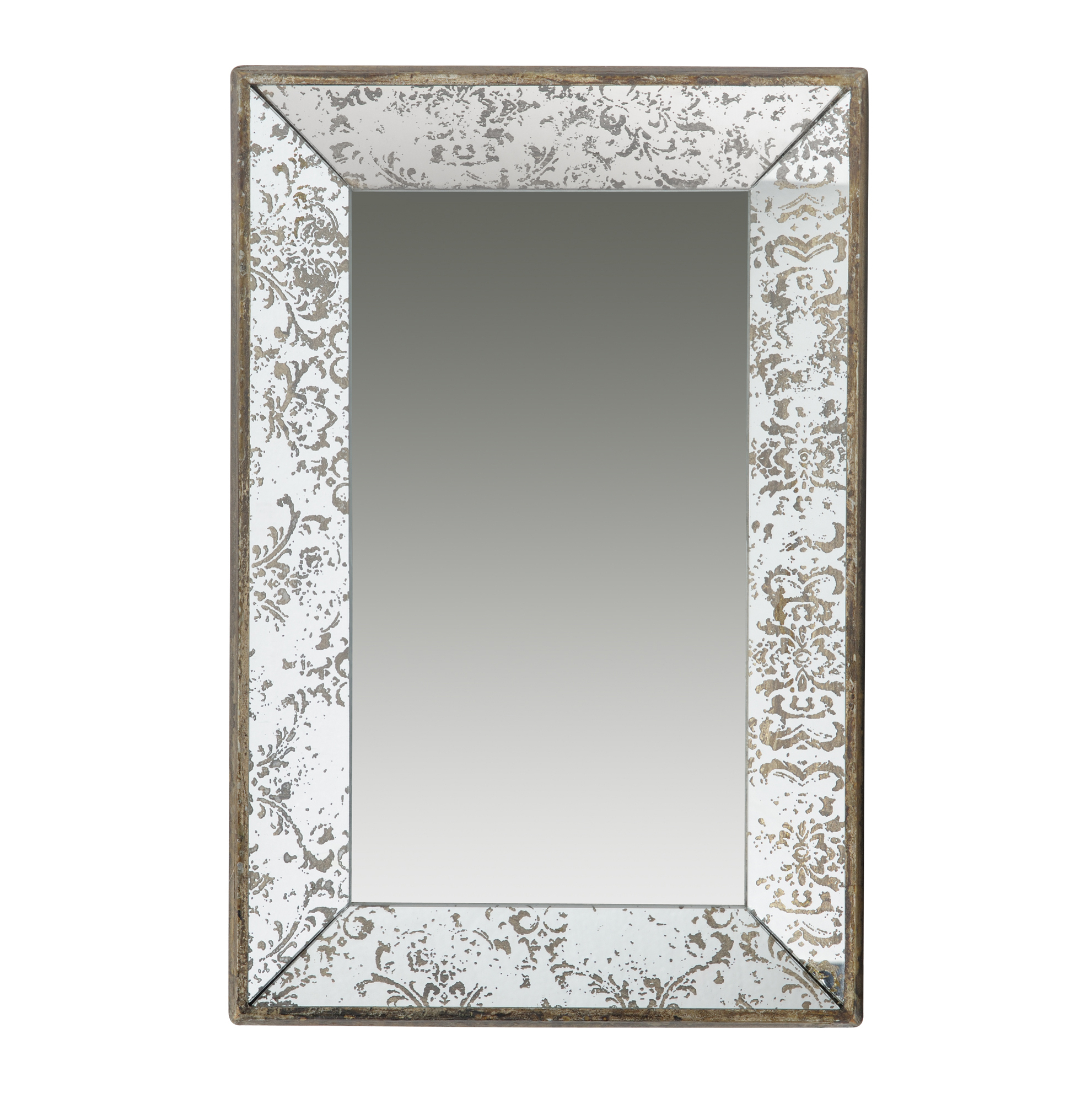 "Most Recent Stamey Wall Mirrors Inside Antique Style Frameless Wall Mirror Tray 24""x15"" In  (View 9 of 20)"