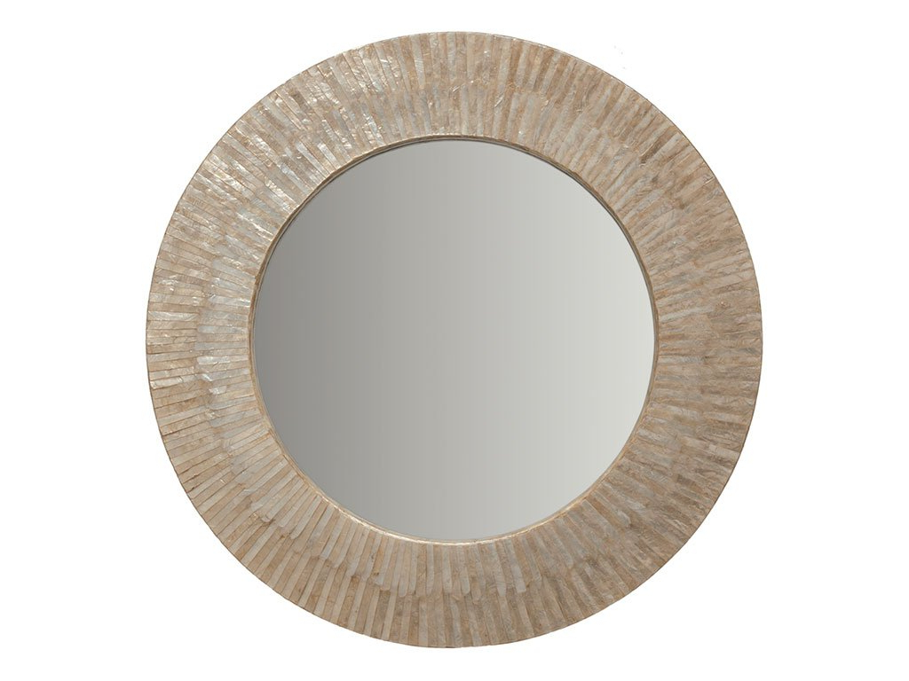 Most Recent Sun Ray Wall Mirrors Pertaining To Kouboo Round Capiz Seashell Sunray Wall Mirror (Gallery 4 of 20)