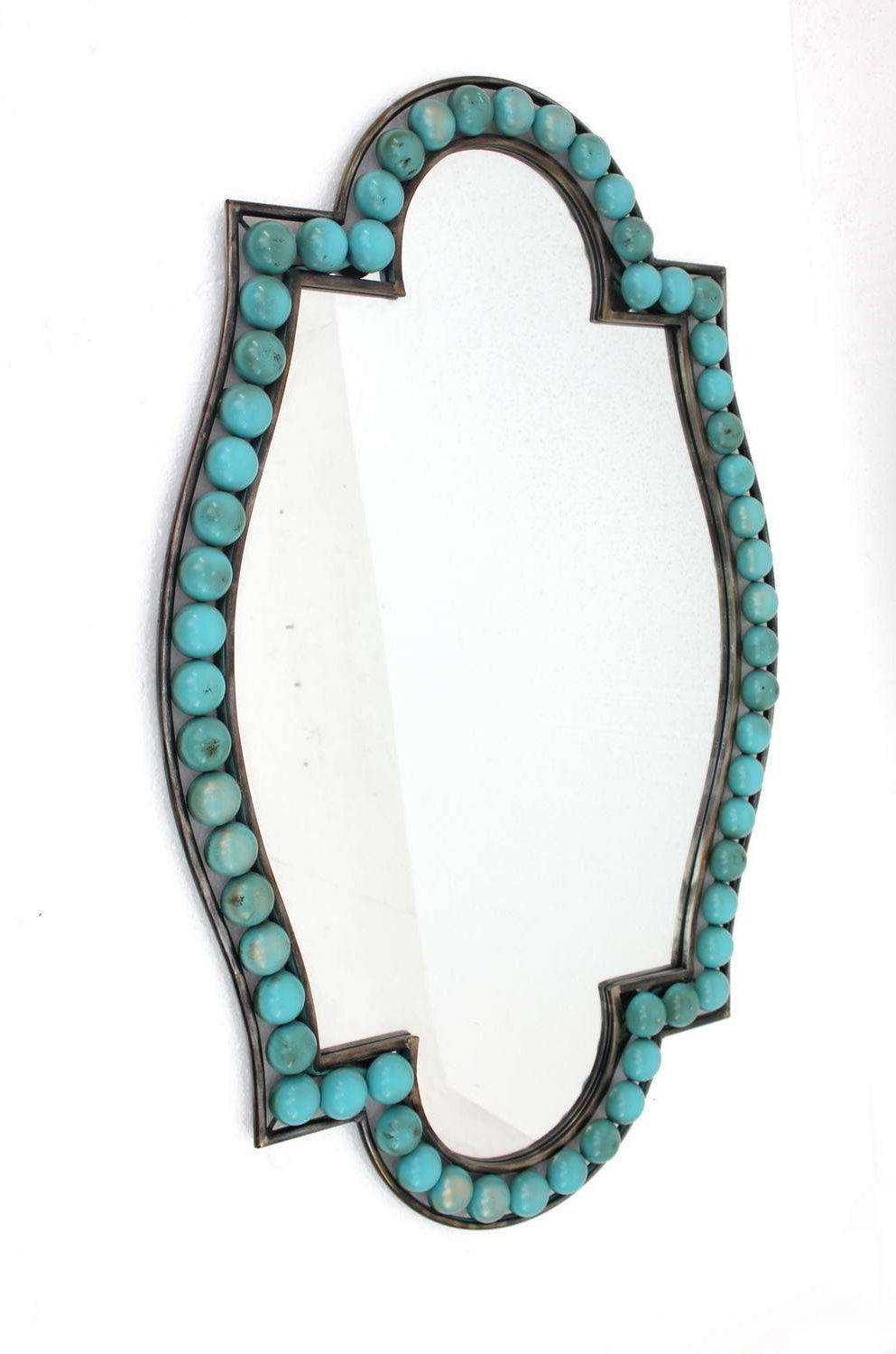 Most Recent Teton Home Wd 144 With Regard To Turquoise Wall Mirrors (View 7 of 20)