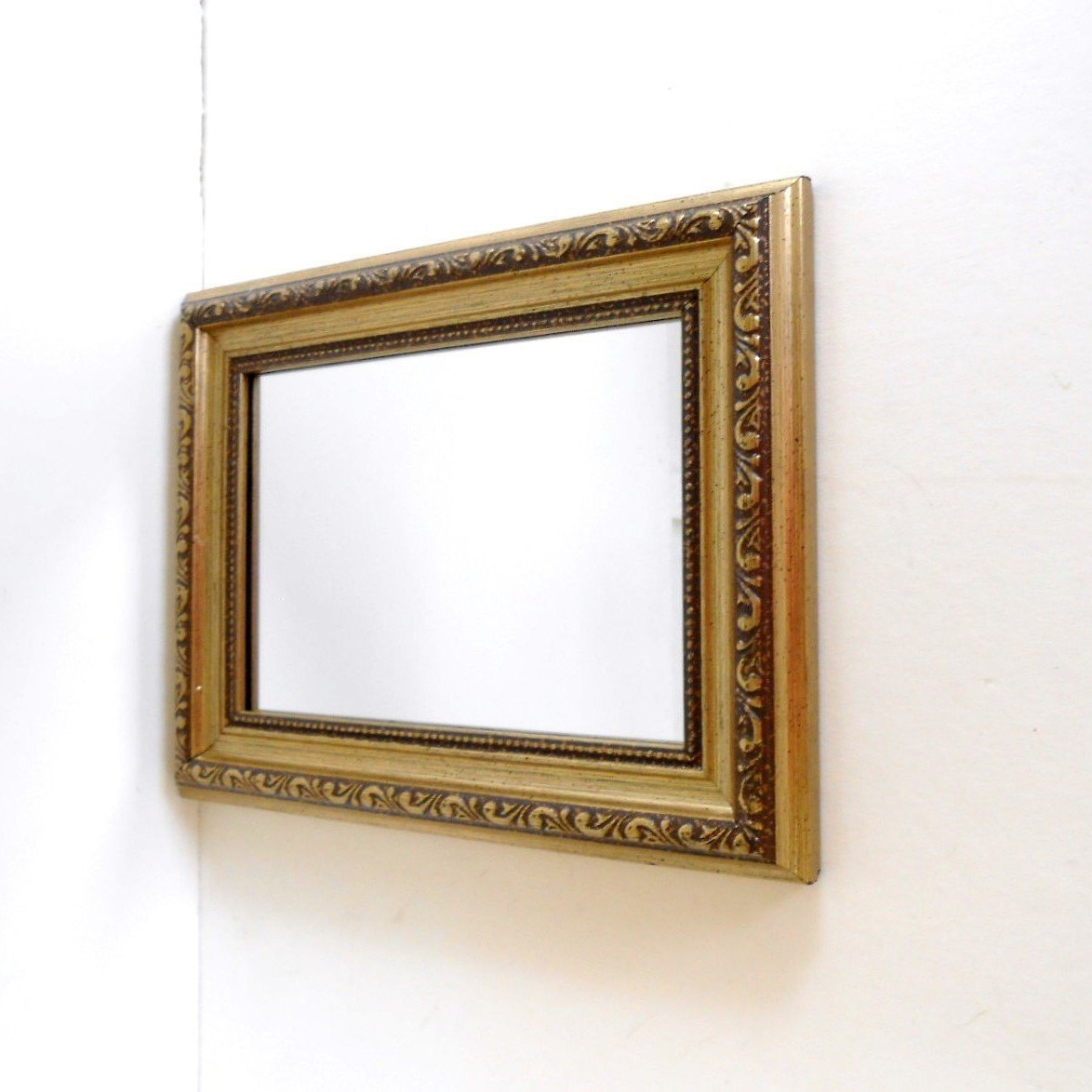 "Most Recent Vintage Rectangle Mirrors ,decorative Wall Mirrors ,vanity Mirrors, Small Mirror/9"" Frame, (View 13 of 20)"