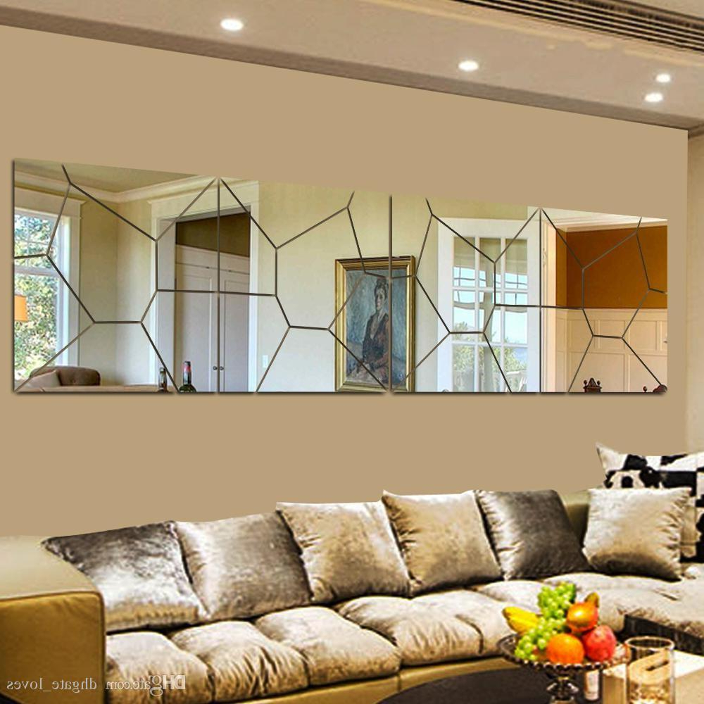 Most Recent Wall Mirror Decals Inside Diy 3d Acrylic Modern Mirror Decal Art Mural Wall Sticker Home Decor Removable Free Shipping (View 20 of 20)