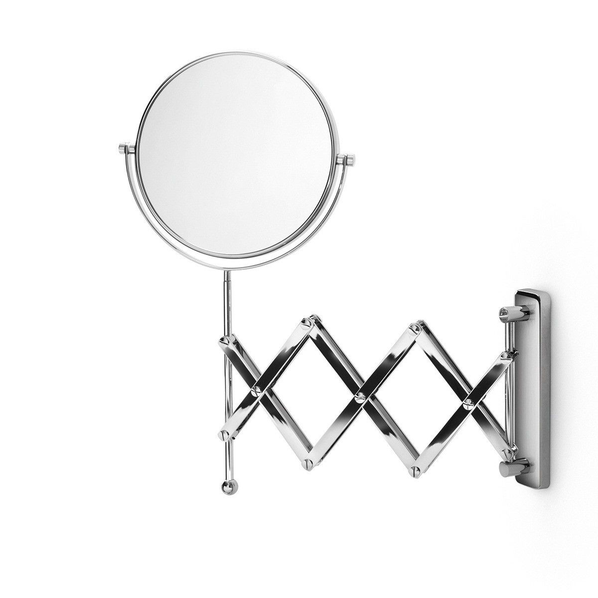 Most Recent Ws Bath Collections Mevedo 55855 Magnifying Mirror 3X From The Inside Accordion Wall Mirrors (View 8 of 20)