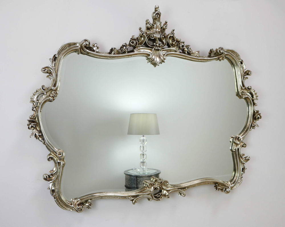 Most Recently Released Antique Wall Mirrors Ideas Mirror Framed Victorian Wooden Decorative Pertaining To Antique Silver Wall Mirrors (View 9 of 20)