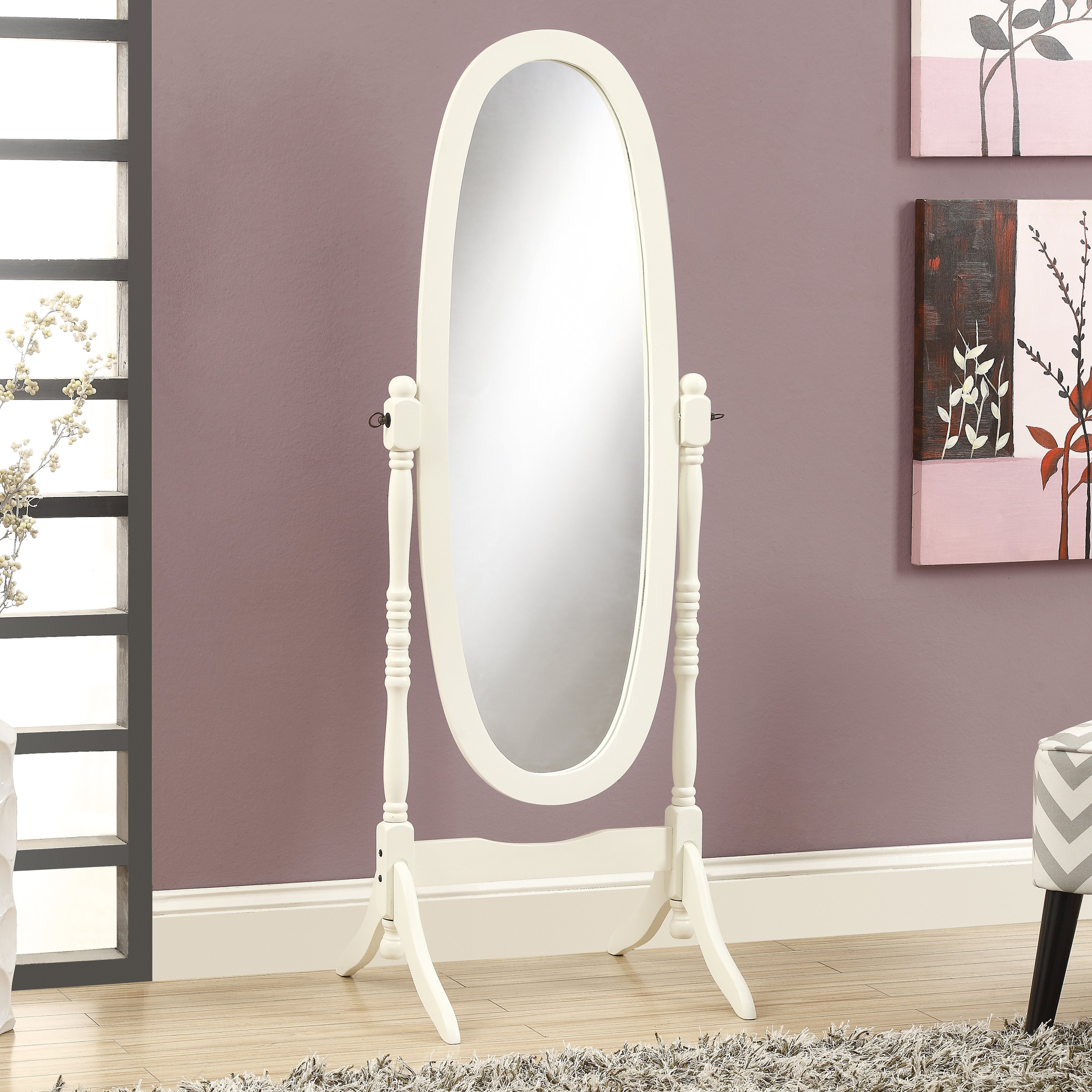 Most Recently Released Ausergewohnlich White Vintage Full Length Wall Mirror Set Pertaining To Full Length Oval Wall Mirrors (View 20 of 20)