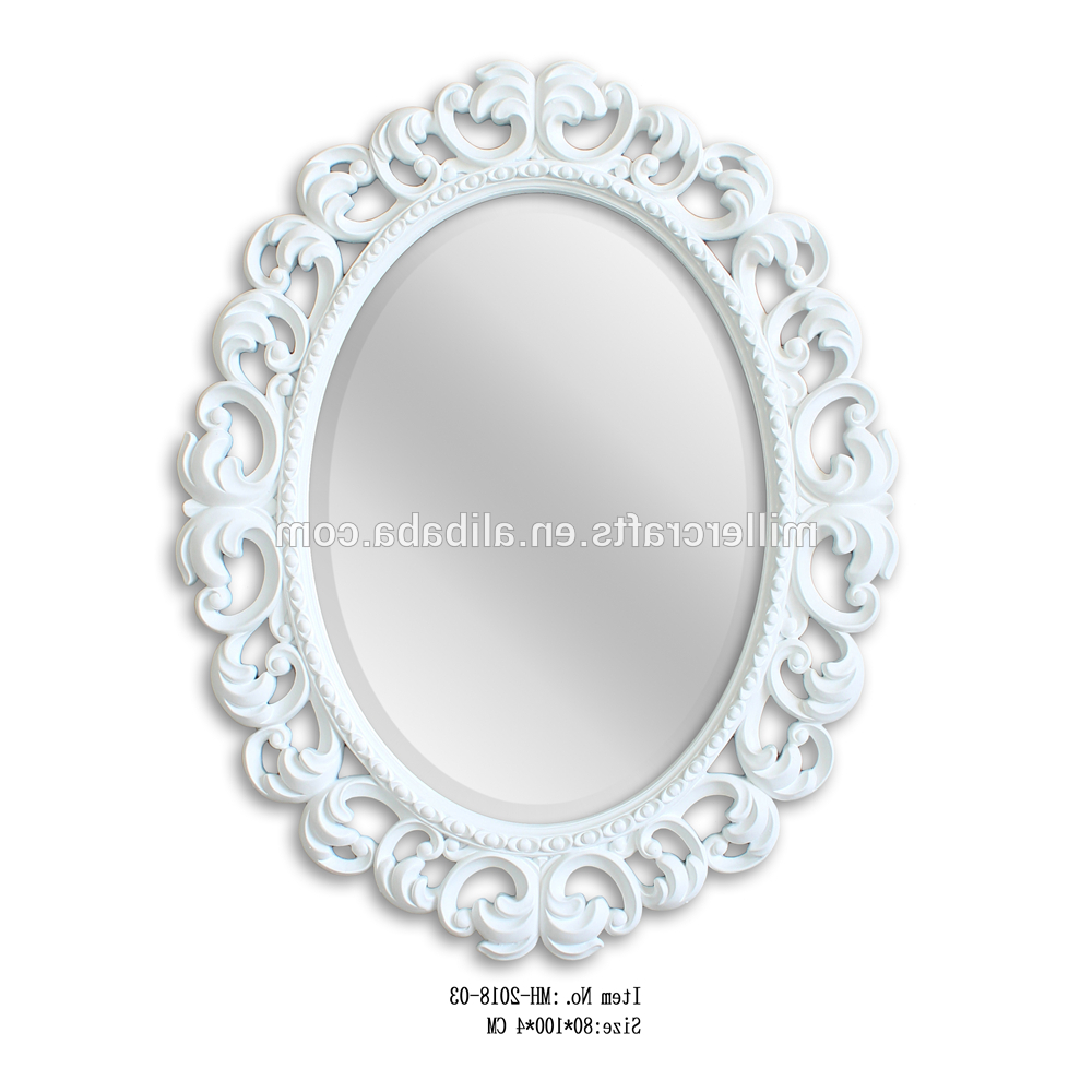 Most Recently Released Baroque Style Oval Shape Decorative White Framed Wall Mirrors – Buy Antique Beveled Mirror In Gold Finish,baroque Style Decorative Regarding White Frame Wall Mirrors (View 11 of 20)