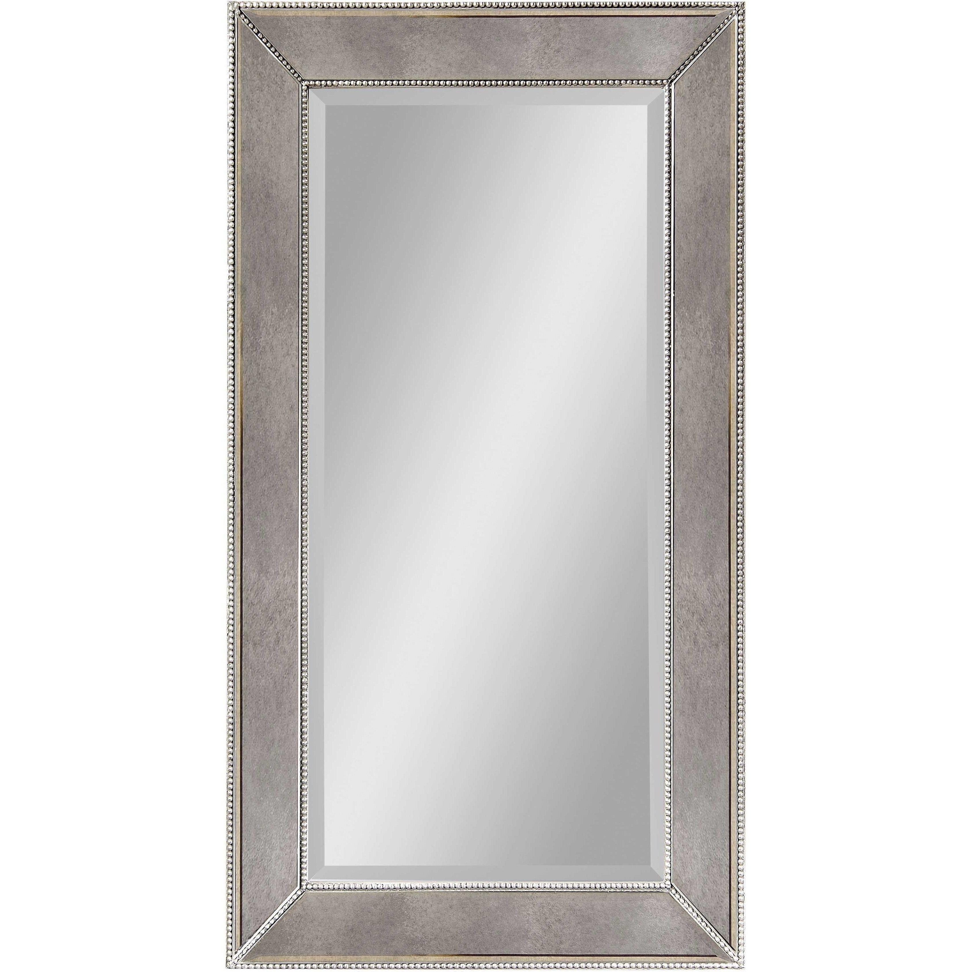 "Most Recently Released Bassett Mirror Beaded Wall Mirror Ant Mirror 26"" X 48"" – M3340bec Regarding Bassett Wall Mirrors (View 5 of 20)"