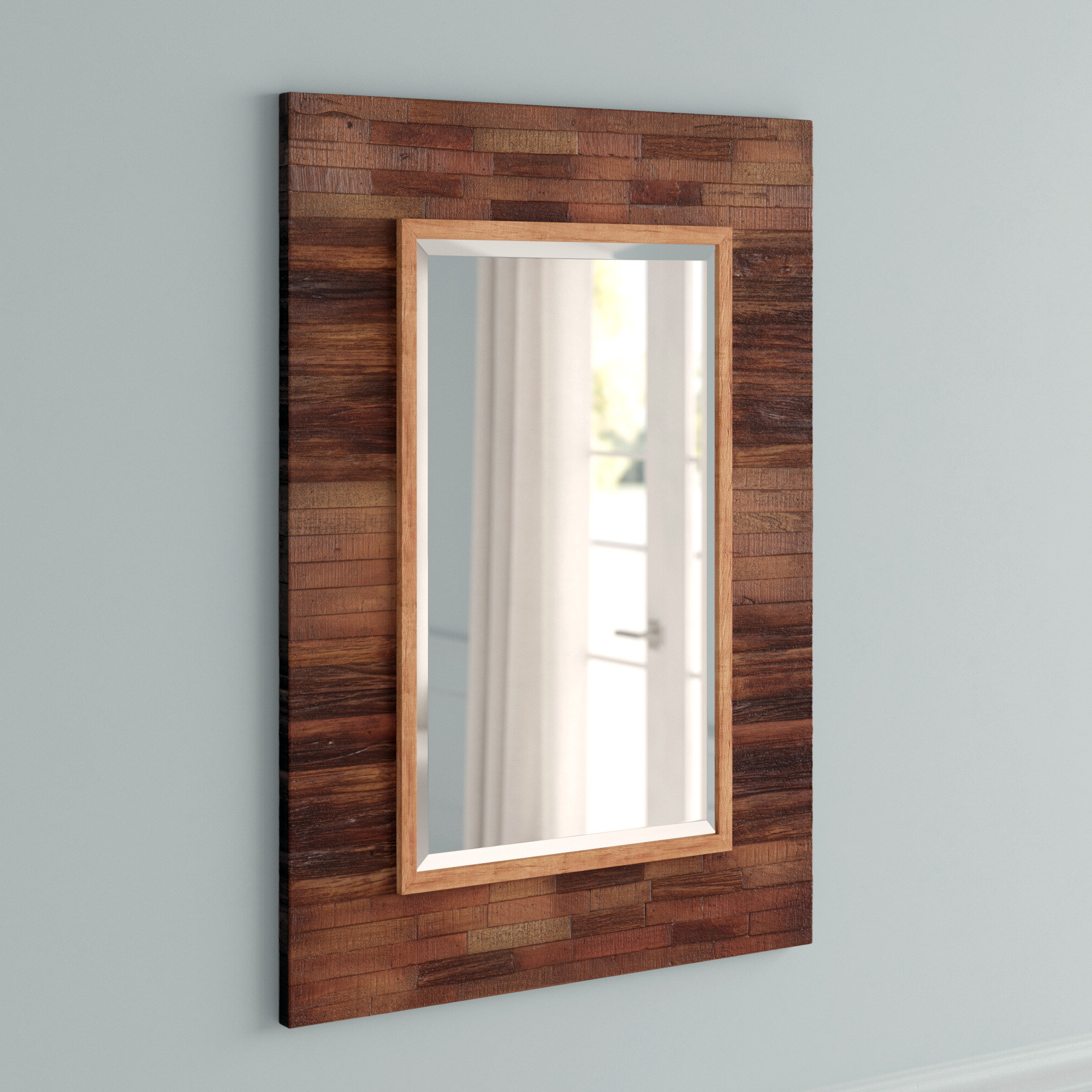 Most Recently Released Booth Reclaimed Wall Mirrors Accent Intended For Booth Reclaimed Wall Mirror Accent (View 2 of 20)