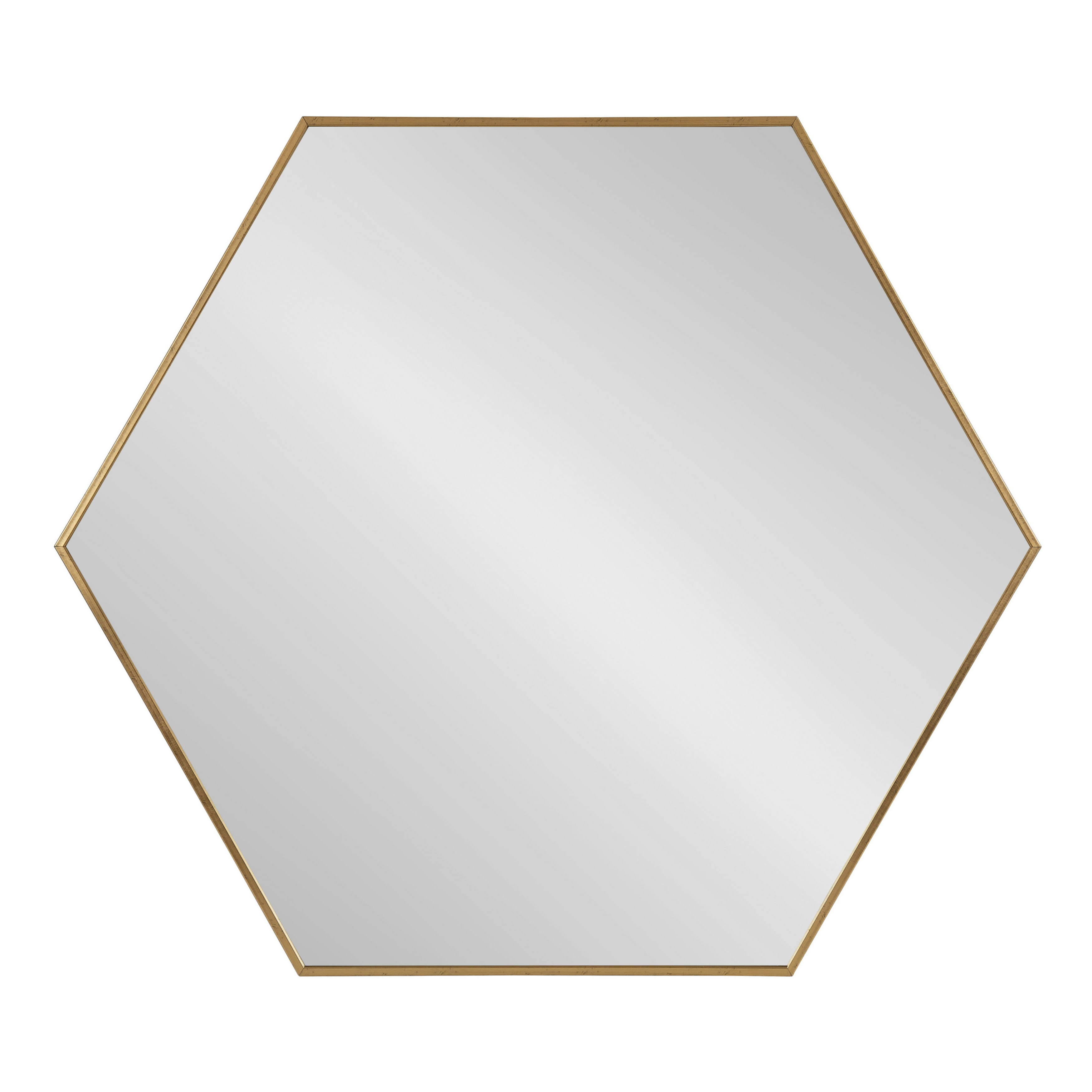 Most Recently Released Bothell 6 Sided Hexagon Modern Beveled Accent Mirror Throughout American Made Accent Wall Mirrors (View 16 of 20)