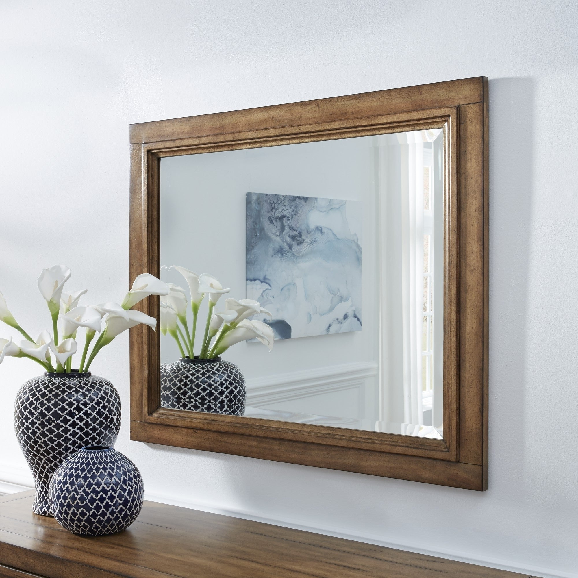 Most Recently Released Carbon Loft Wallace Wood Framed Landscape Wall Mirror Inside Landscape Wall Mirrors (View 3 of 20)