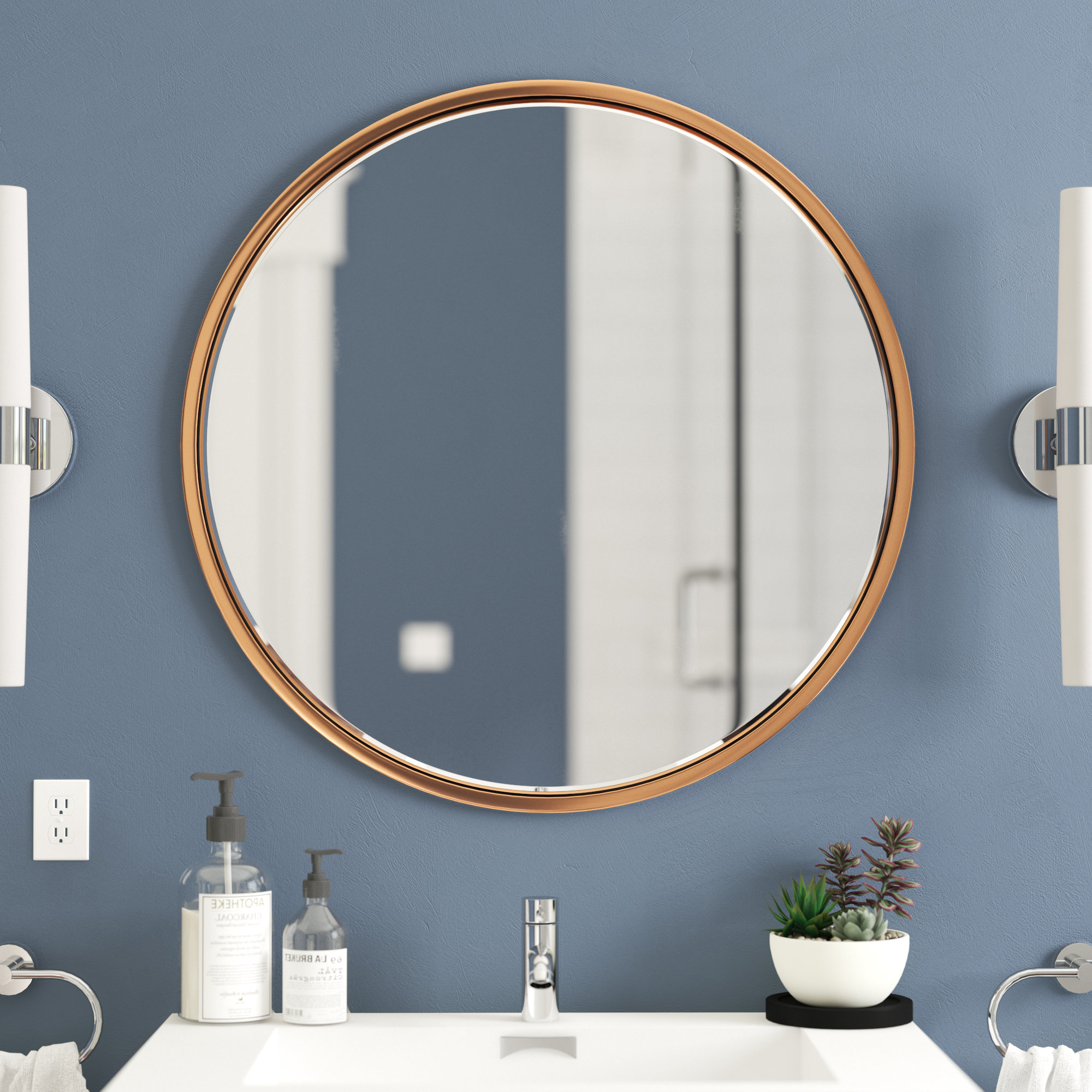 Most Recently Released Dahlgren Wall Bathroom/vanity Mirror For Loftis Modern & Contemporary Accent Wall Mirrors (Gallery 18 of 20)