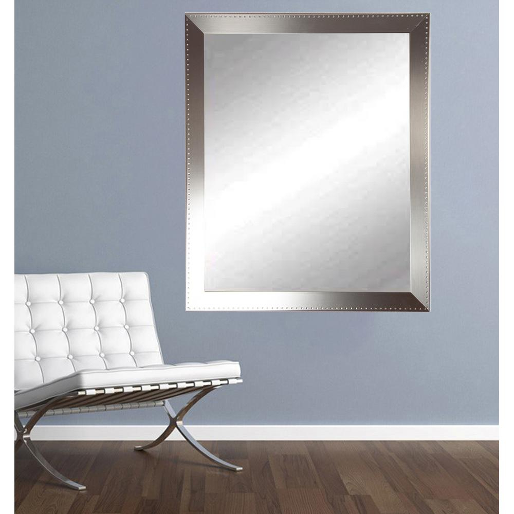 Most Recently Released Embossed Steel Silver Vanity Wall Mirror For Wall Mirrors For Bedrooms (View 8 of 20)